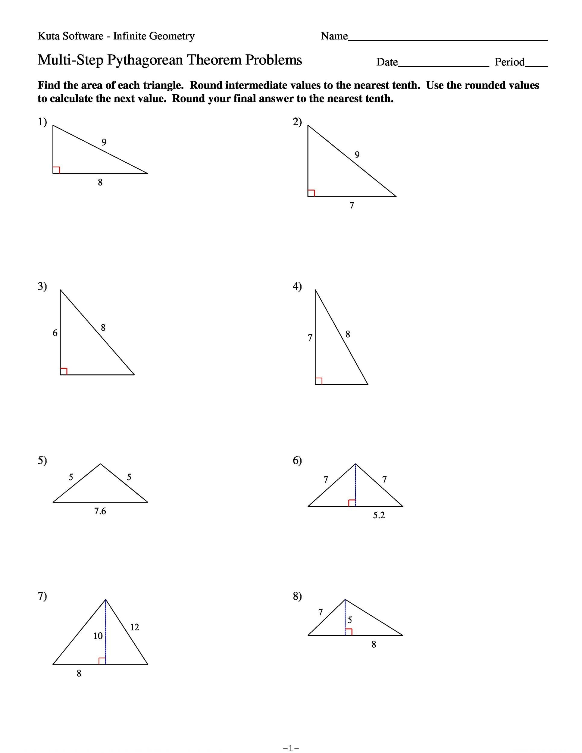 Worksheets Pythagorean Theorem Worksheet Pdf 48 pythagorean theorem worksheet with answers word pdf free 08