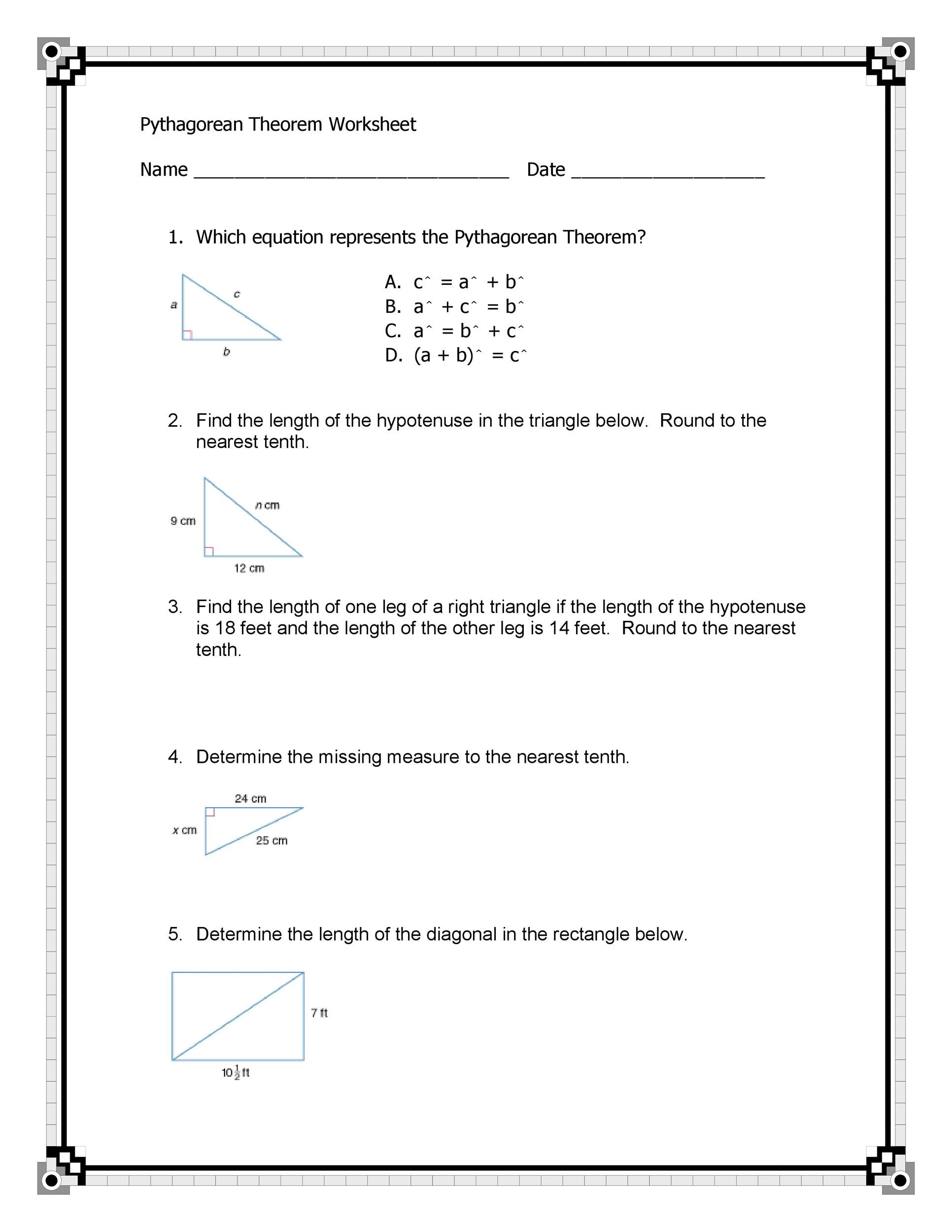 Free pythagorean theorem 10