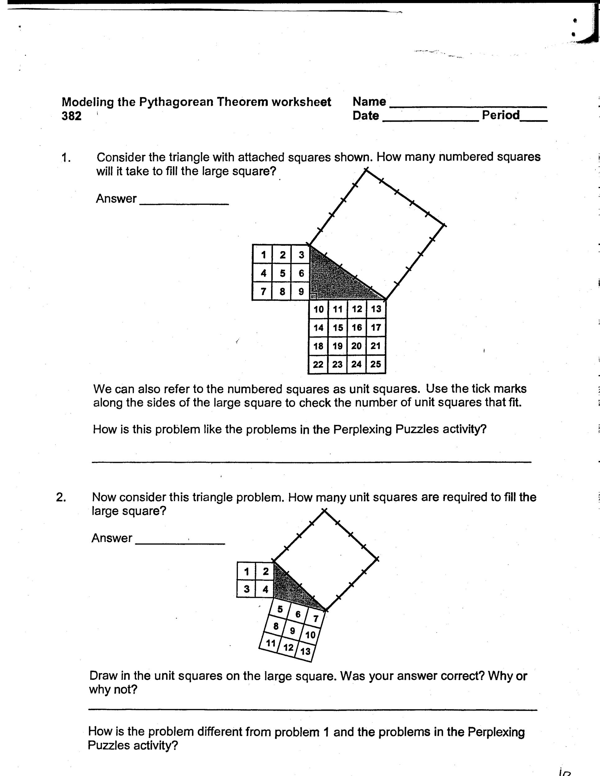 pythagorean theorem worksheet answers kidz activities. Black Bedroom Furniture Sets. Home Design Ideas