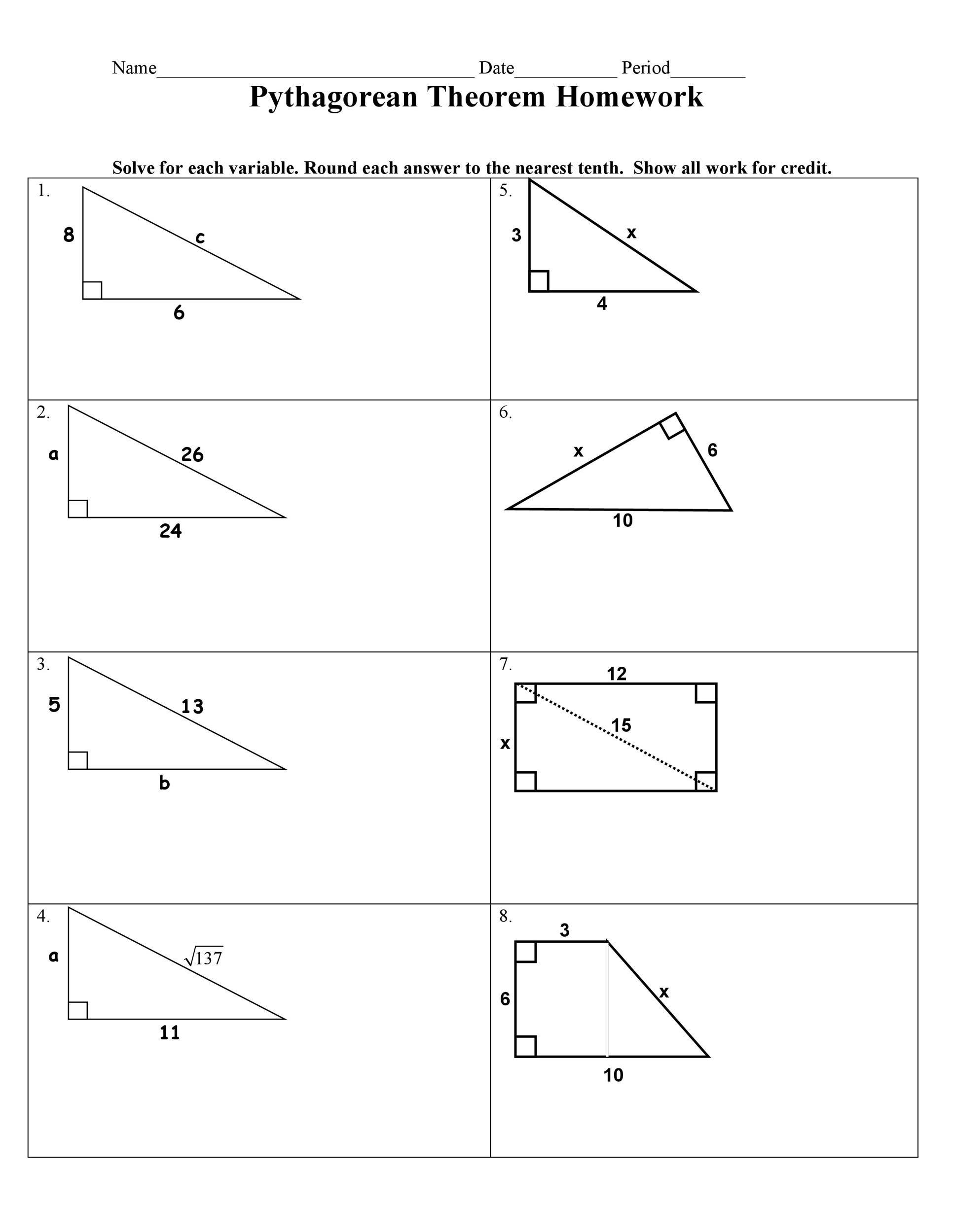 Free pythagorean theorem 16