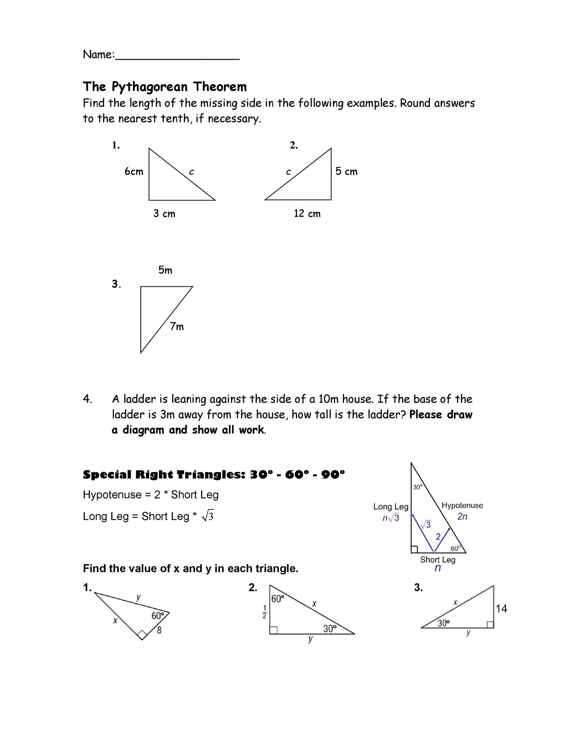 Free pythagorean theorem 20