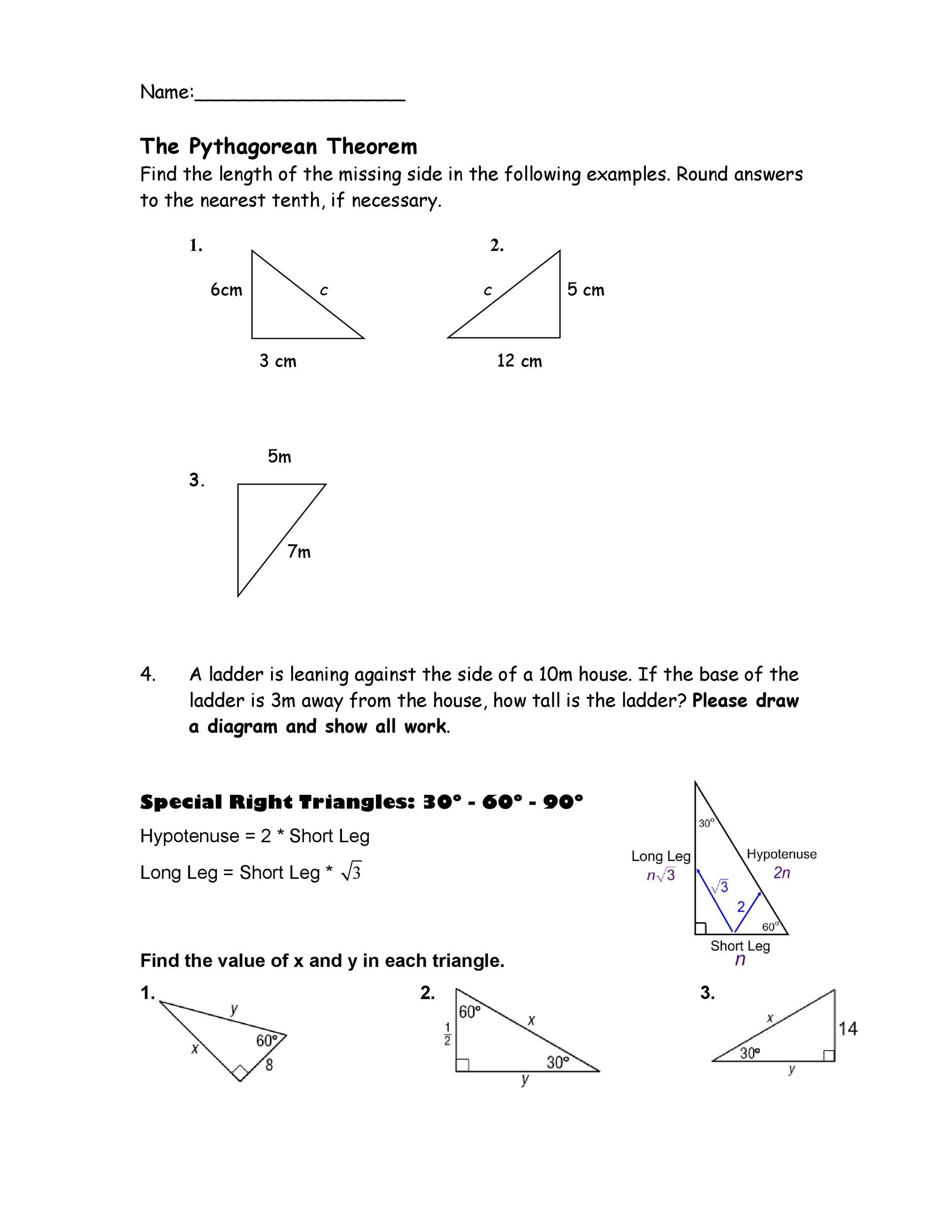 Free pythagorean theorem 20