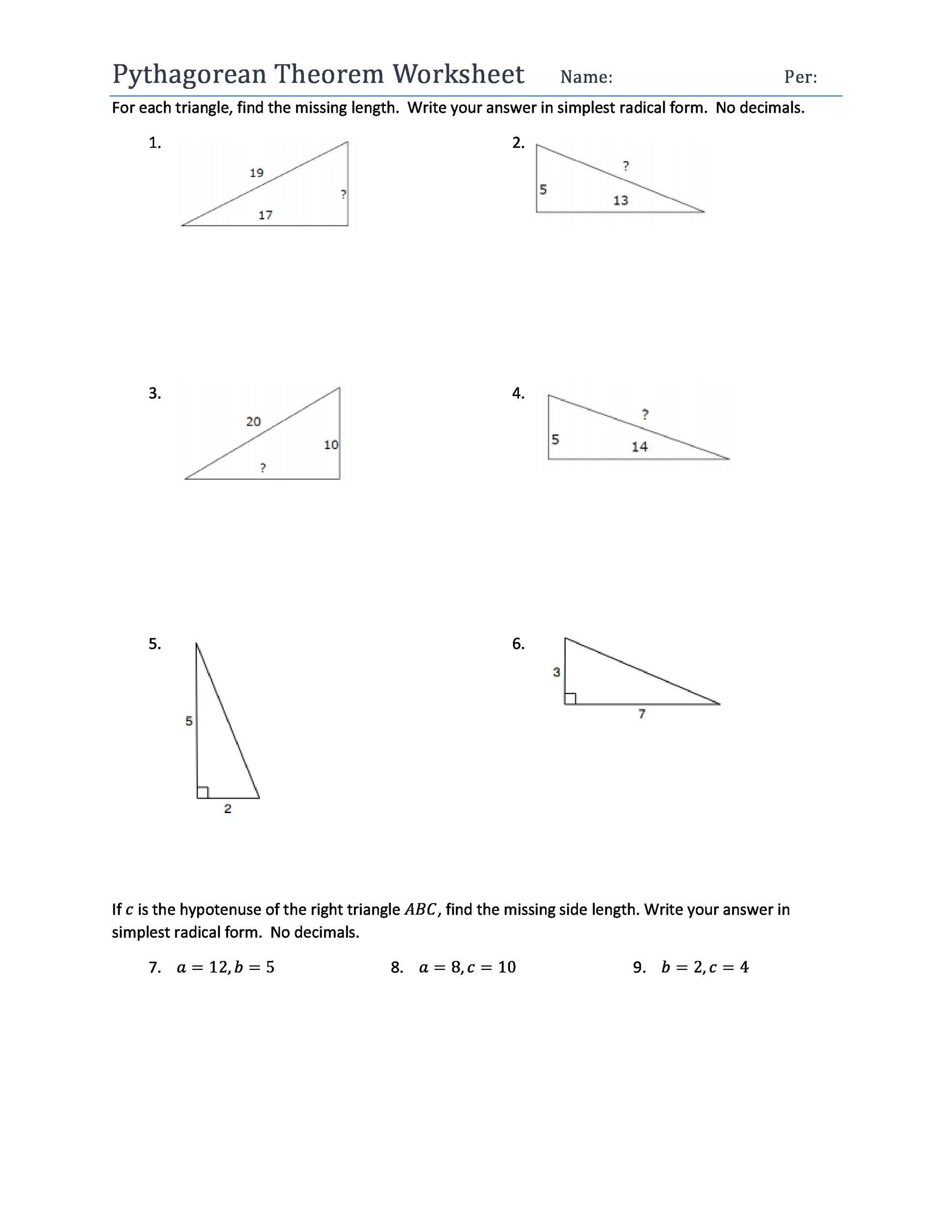 Free Pythagorean Theorem 21