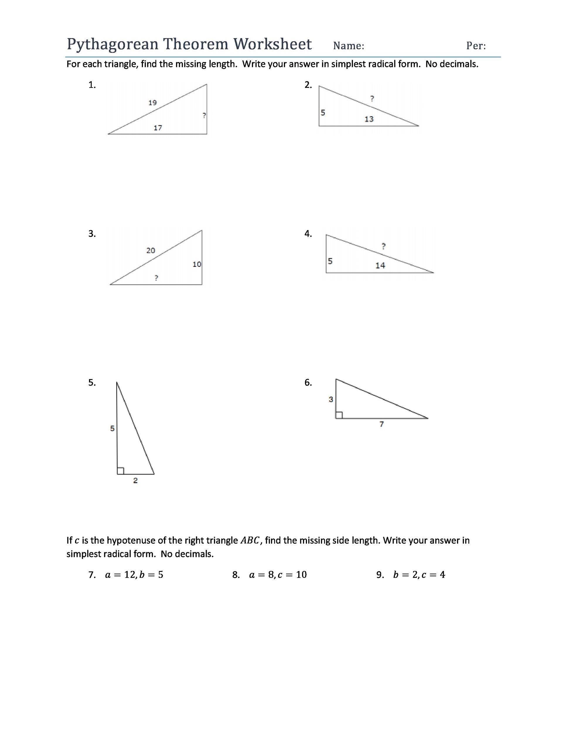 Free pythagorean theorem 21