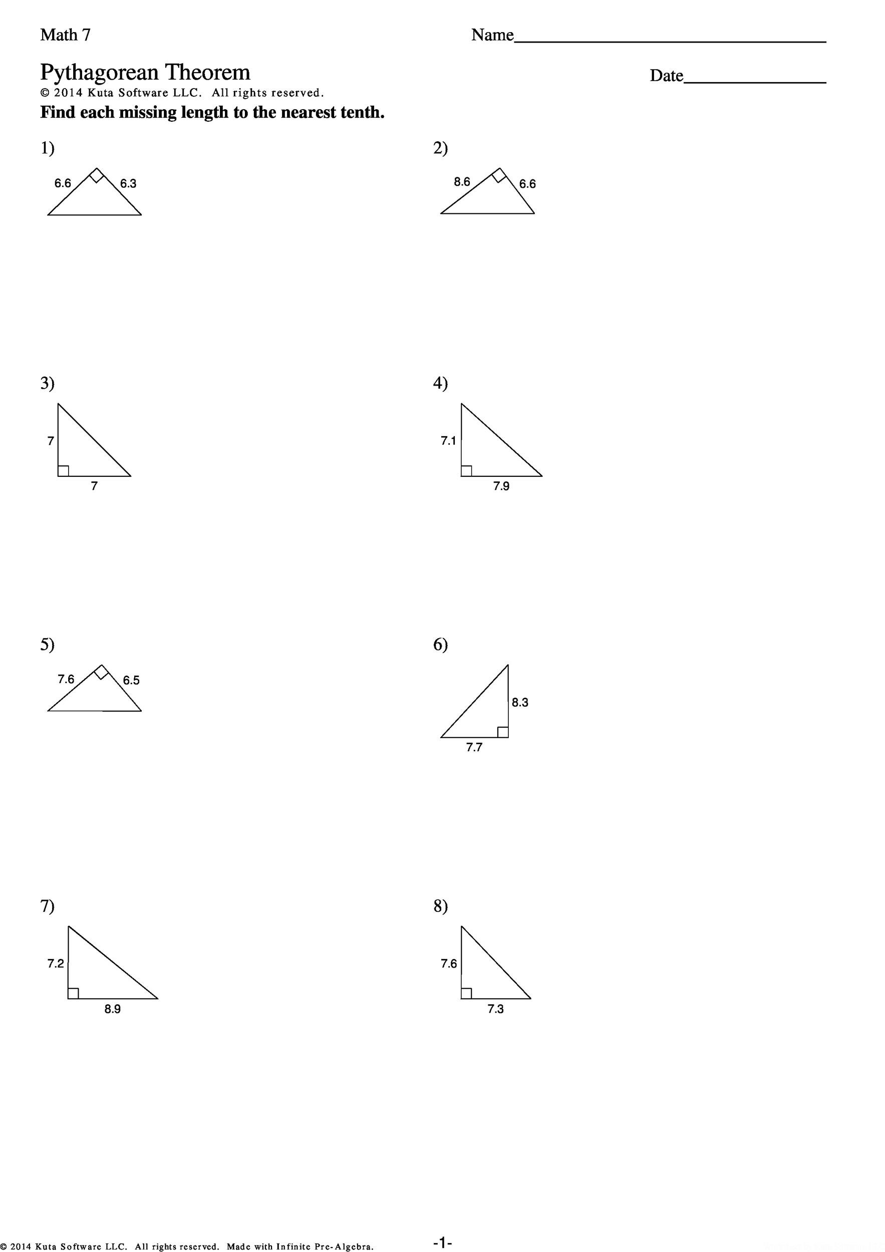 pythagoras theorem how to find the hypotenuse