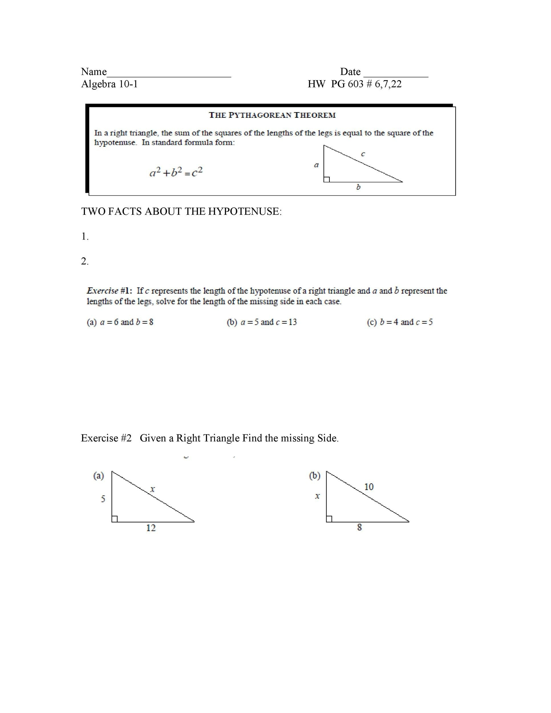 Free pythagorean theorem 26