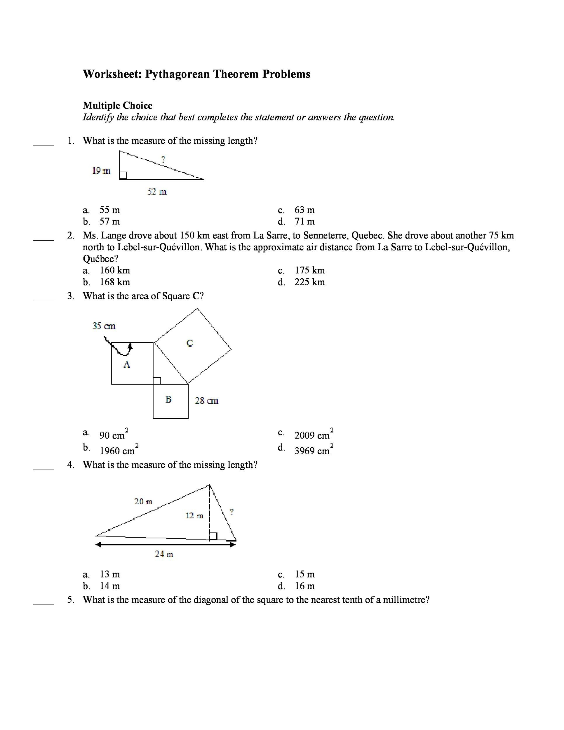 worksheet Pythagorean Theorem Worksheet Word Problems worksheet pythagorean theorem printable place value chart find the 28 template lab 2 pyt