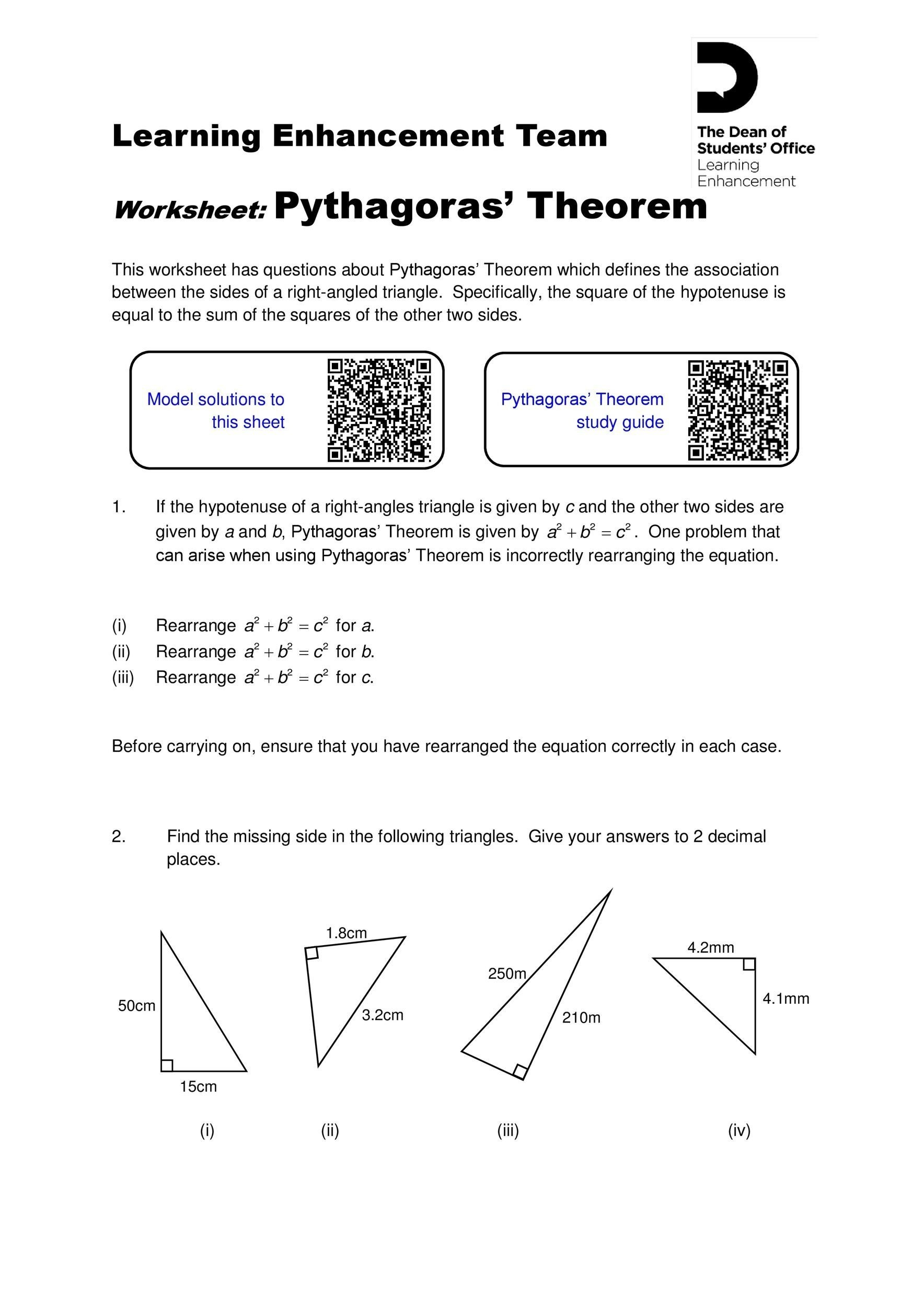 Free pythagorean theorem 29