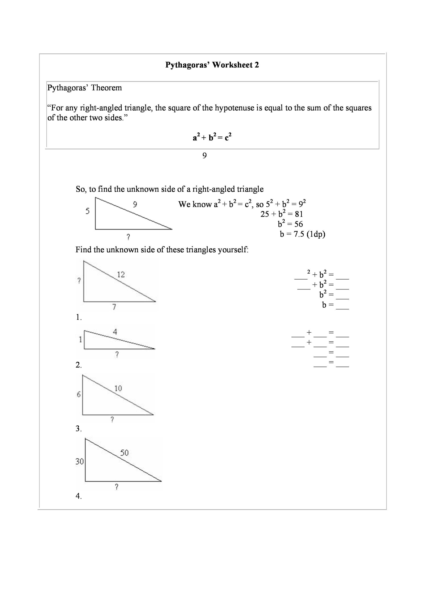 Free pythagorean theorem 32