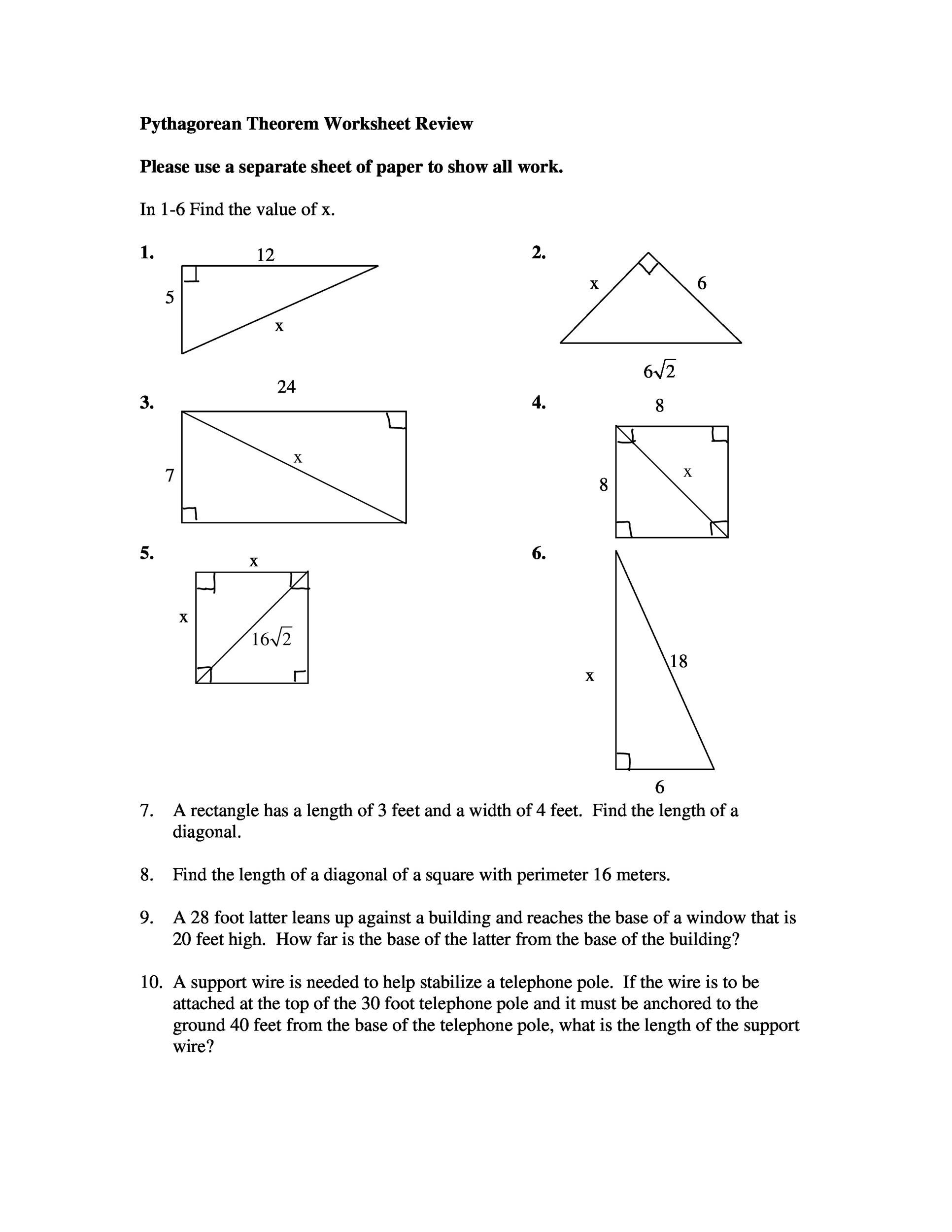 48 Pythagorean Theorem Worksheet With Answers Word Pdf