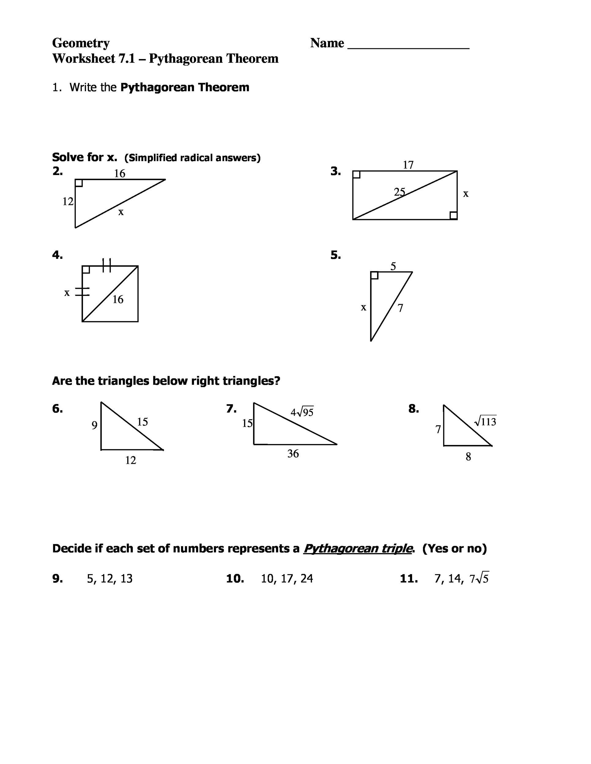 Free pythagorean theorem 36