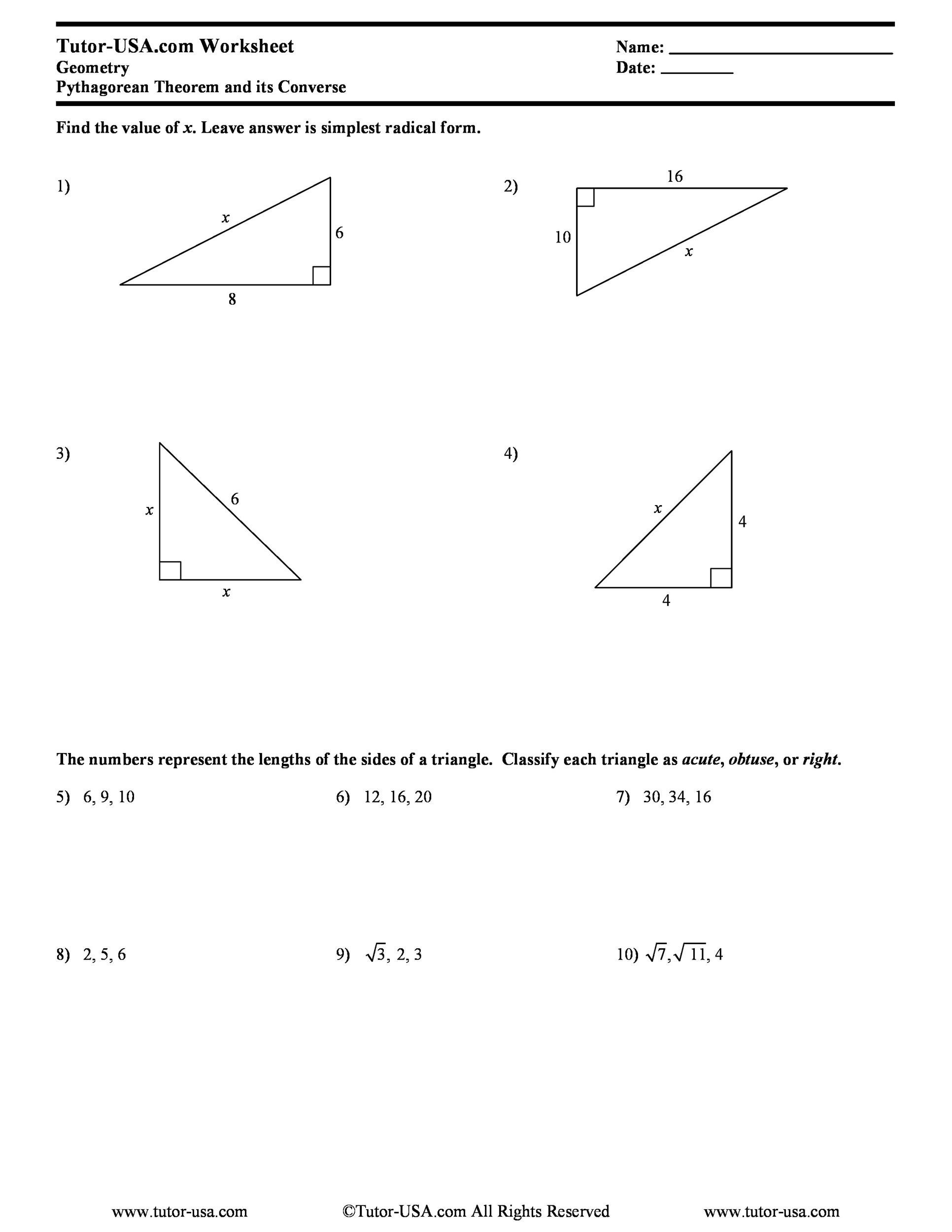 Free pythagorean theorem 39