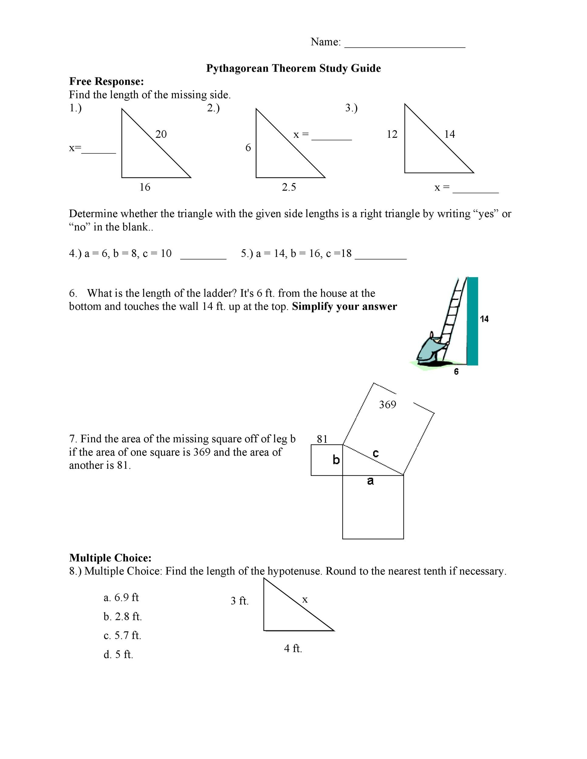 Free pythagorean theorem 42