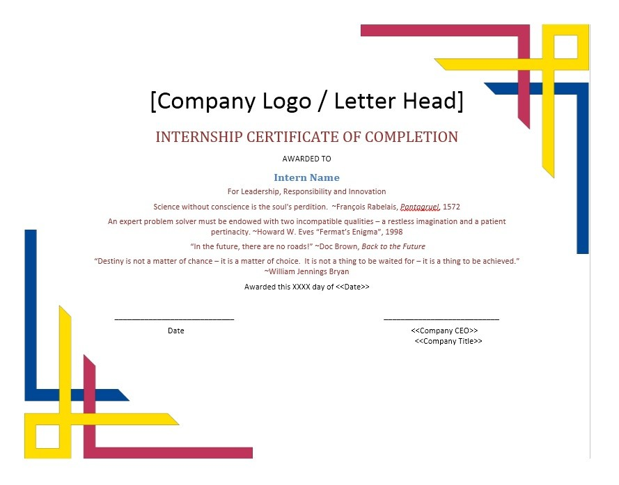 Printable Certificate Of Completion Template 06  Certificate Of Completion Template Word