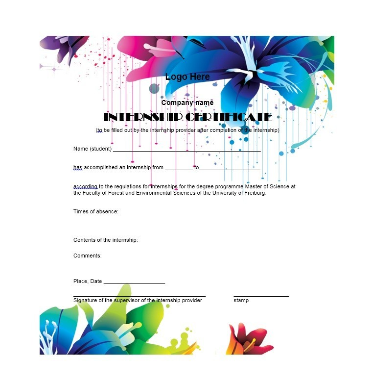 Free Certificate of Completion Template 10