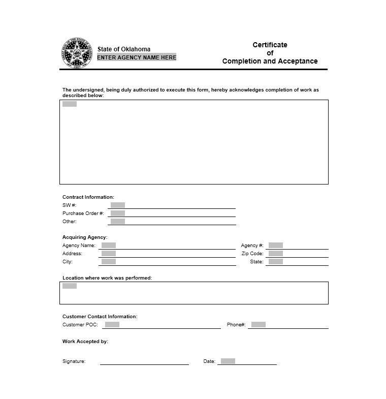 Free Certificate of Completion Template 13