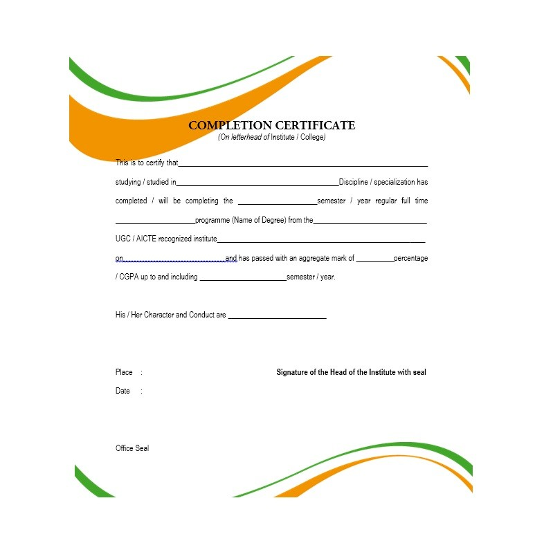 free certificate of completion template 19