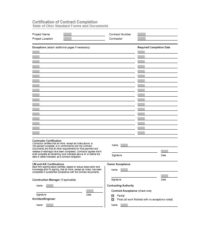 Printable Certificate Of Completion Template 20  Certificates Of Completion Templates