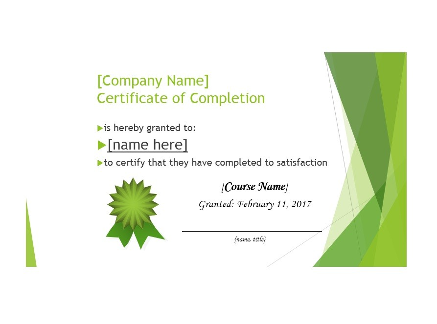 Free Certificate of Completion Template 29