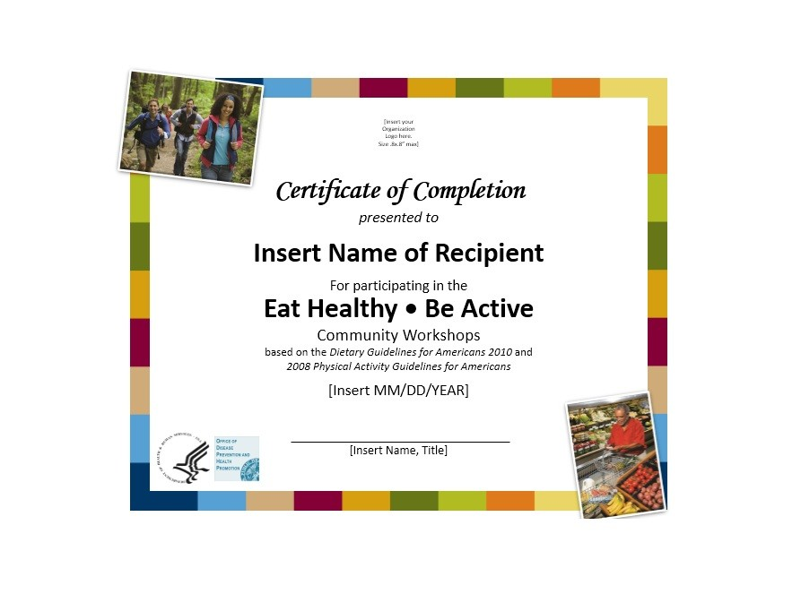 Free Certificate of Completion Template 31