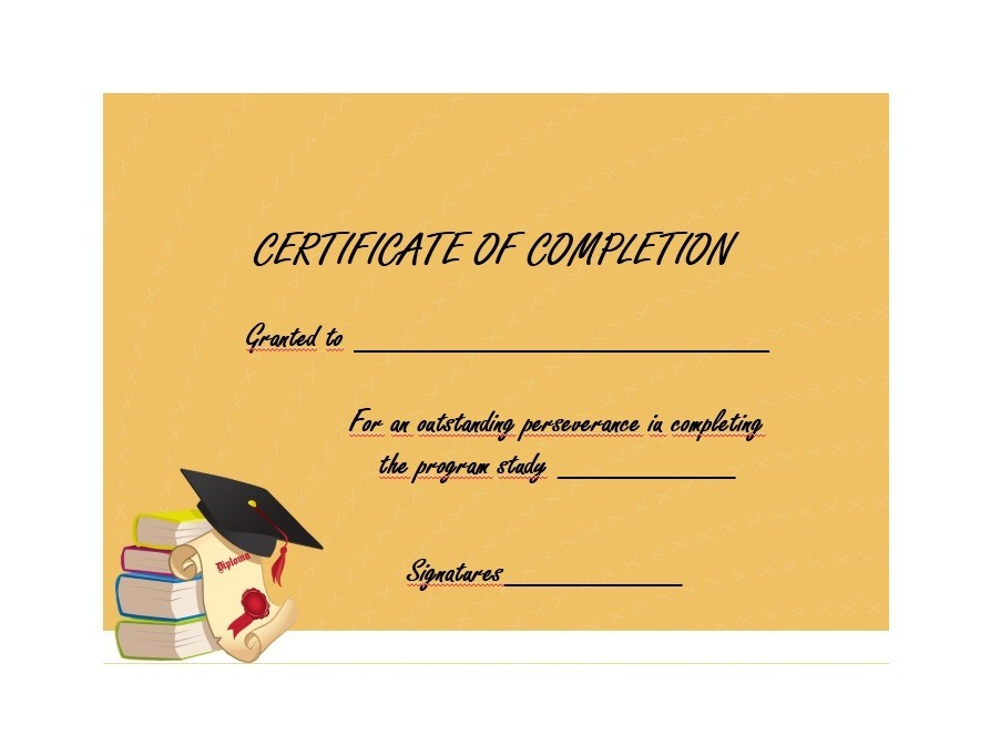 Free Certificate of Completion Template 33