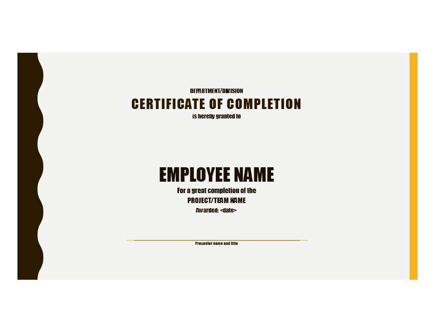 Free Certificate of Completion Template 34