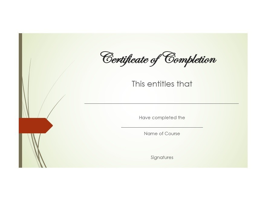Free Certificate of Completion Template 36