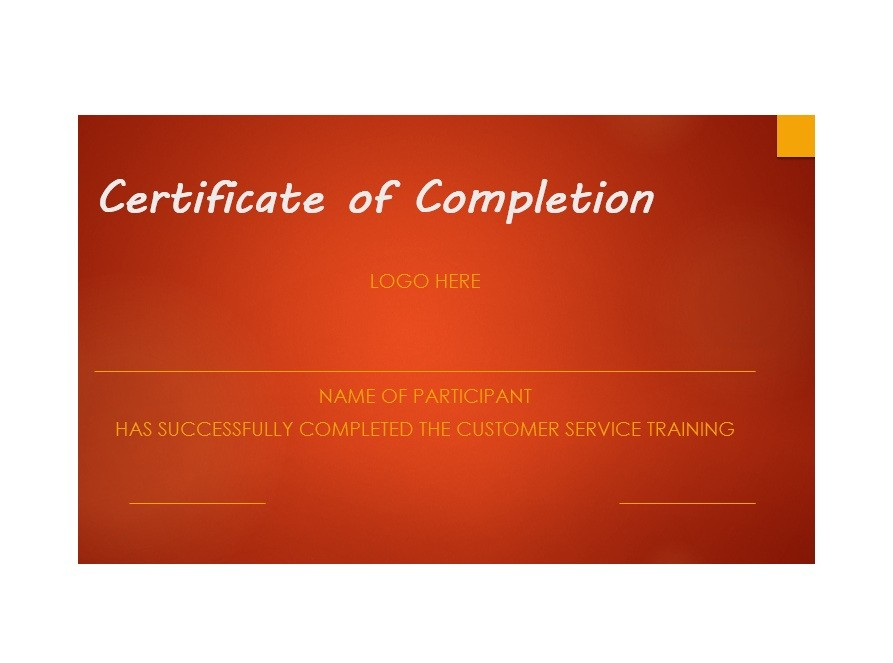Free Certificate of Completion Template 37