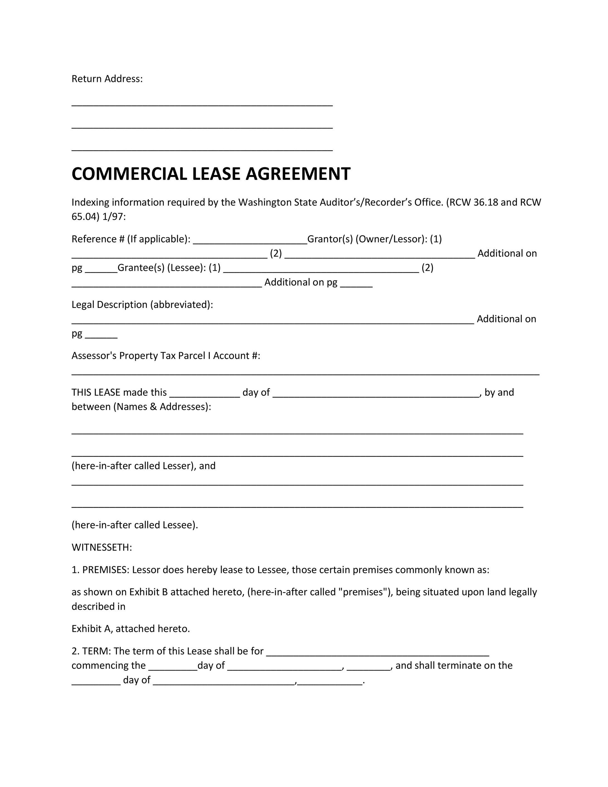 Free Commercial Lease Agreement Template 17