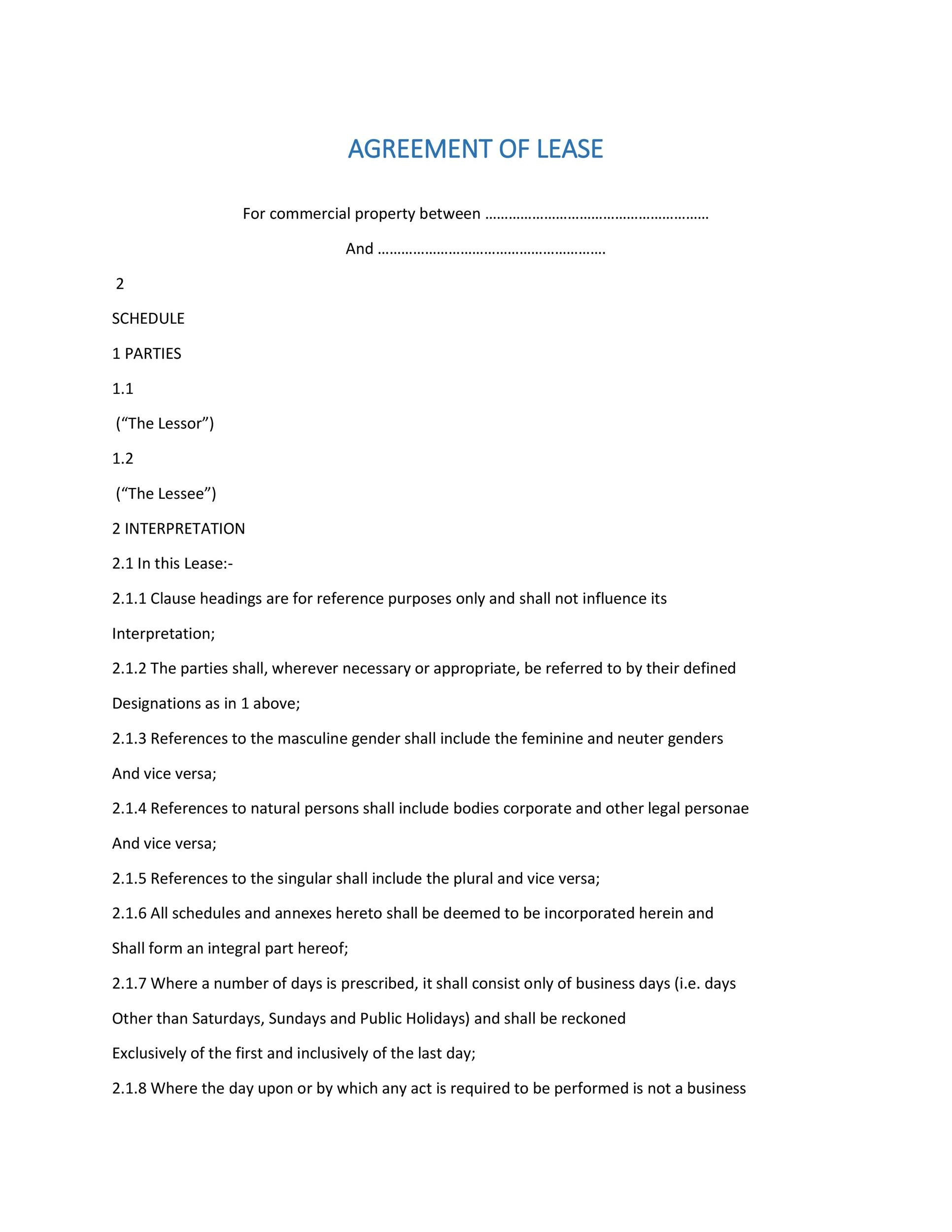 Free Commercial Lease Agreement Template 19
