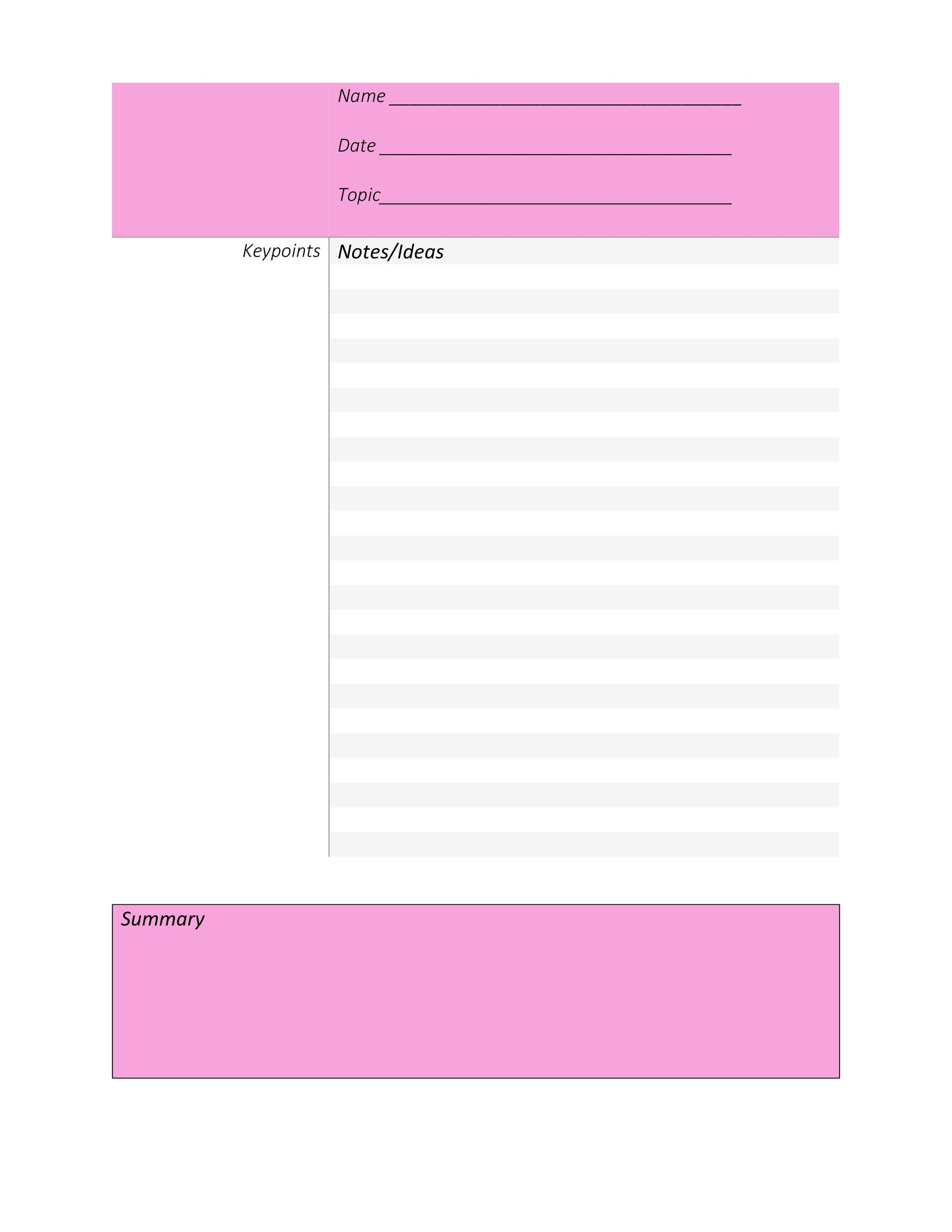 Note taking template pdf 9 handing over taking over format for Handing over notes template
