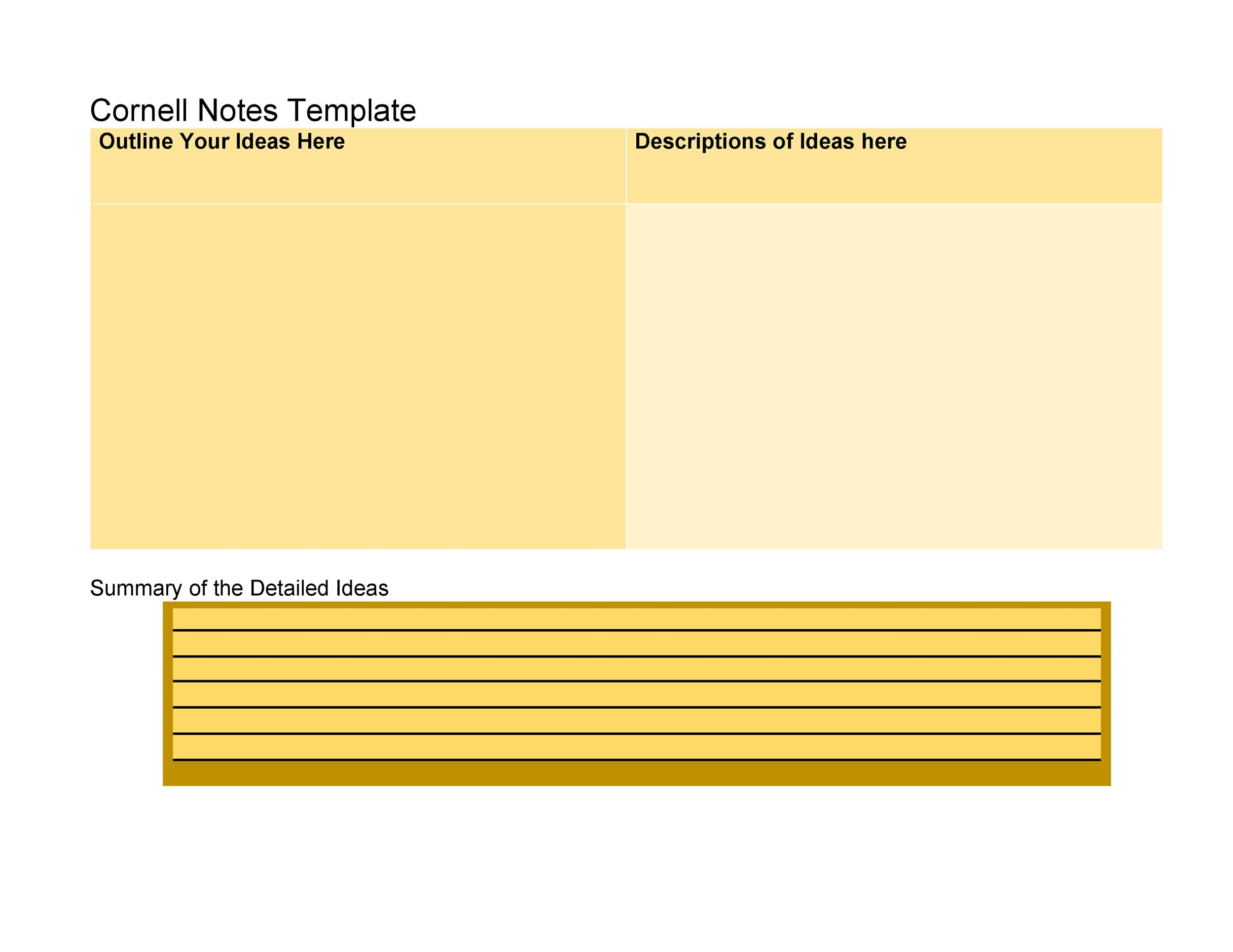 Free Cornell Notes Template 32