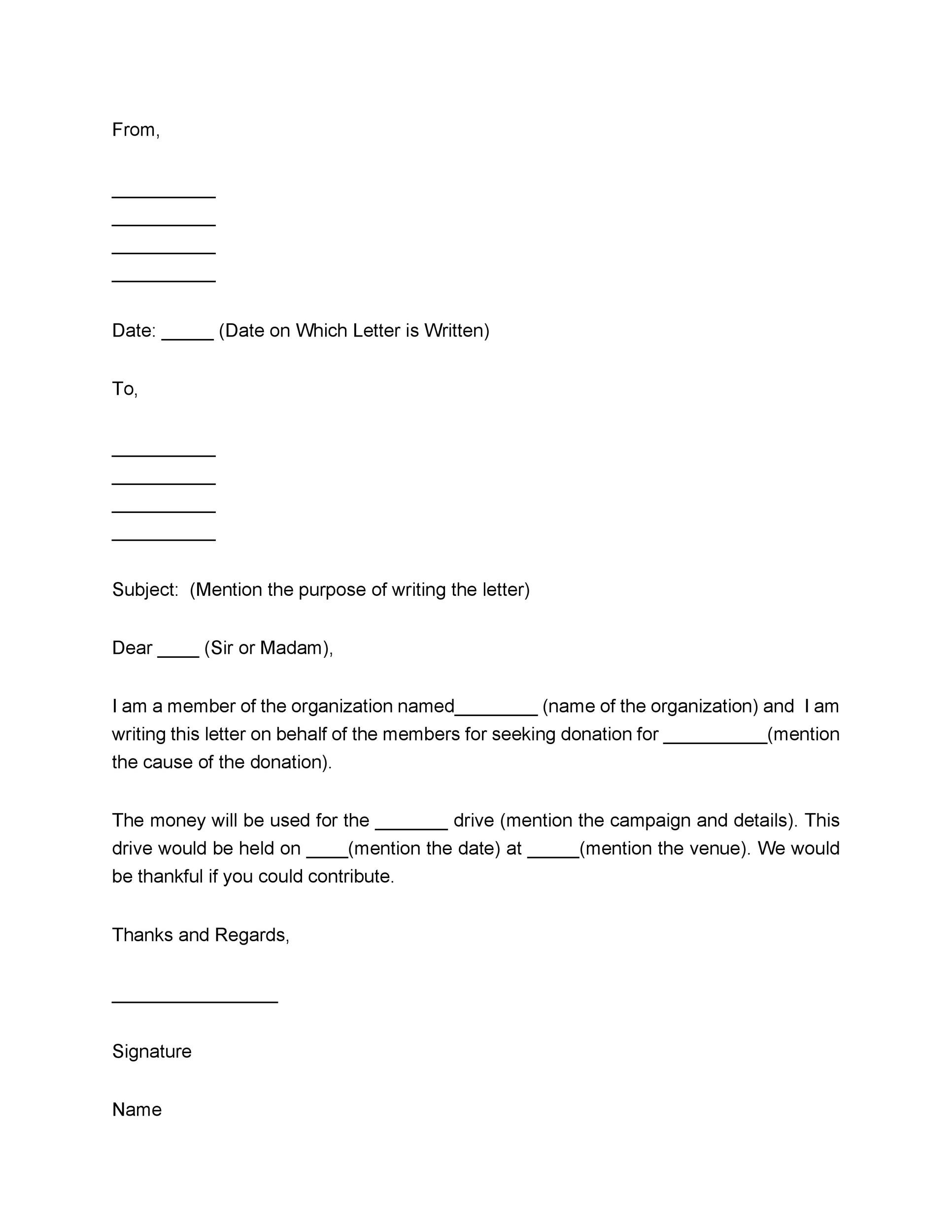 43 FREE Donation Request Letters Amp Forms