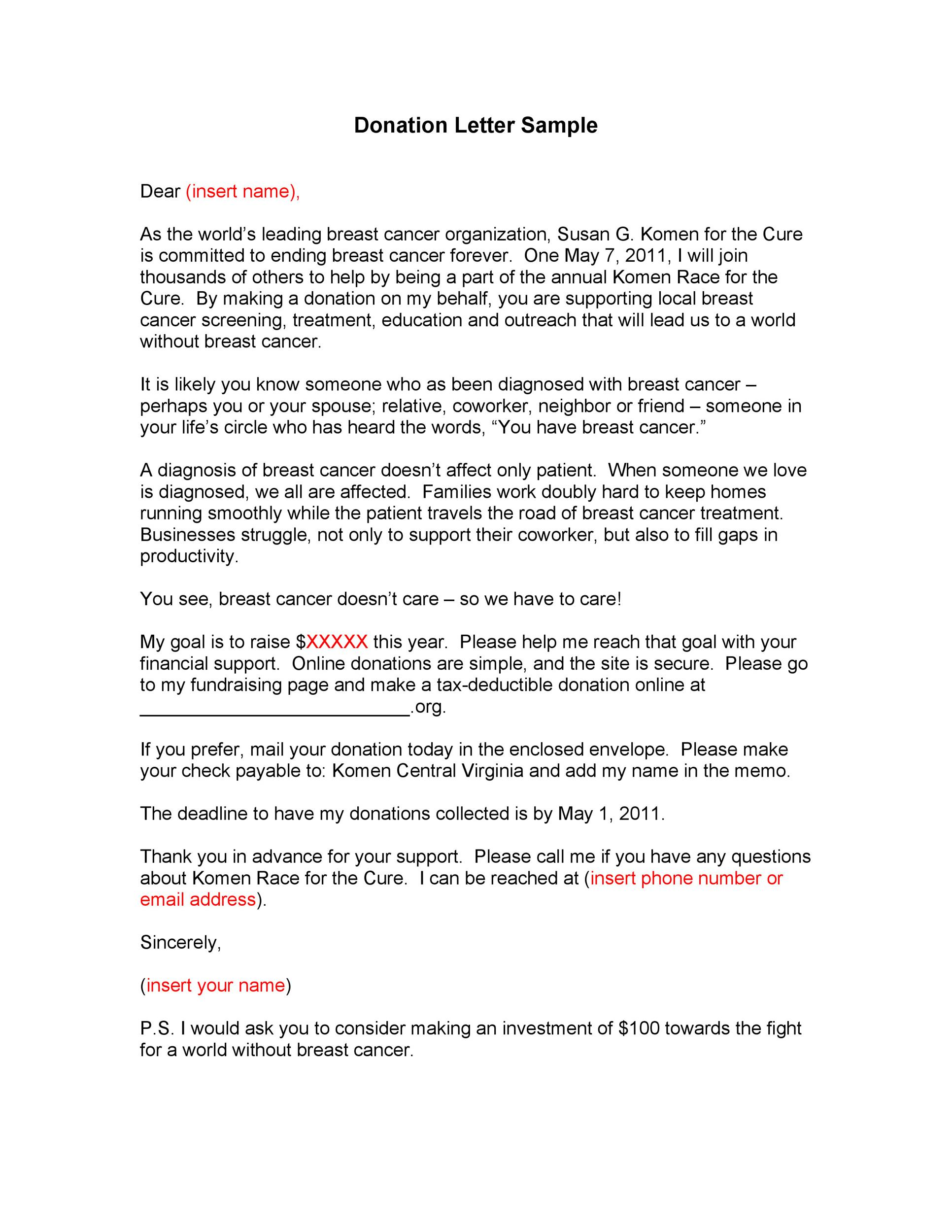 Request Letter Sample Sample Letter For Requesting Funding Re