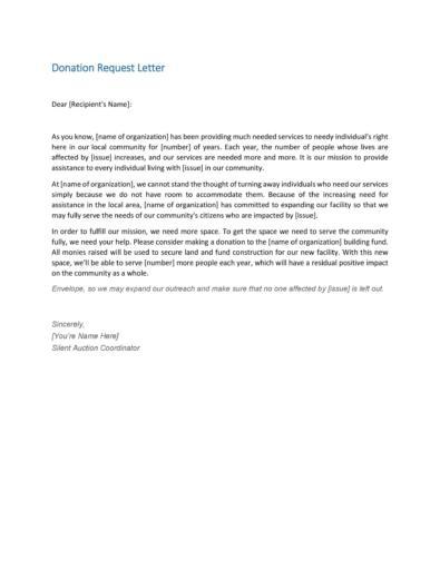 Donation Request Letters
