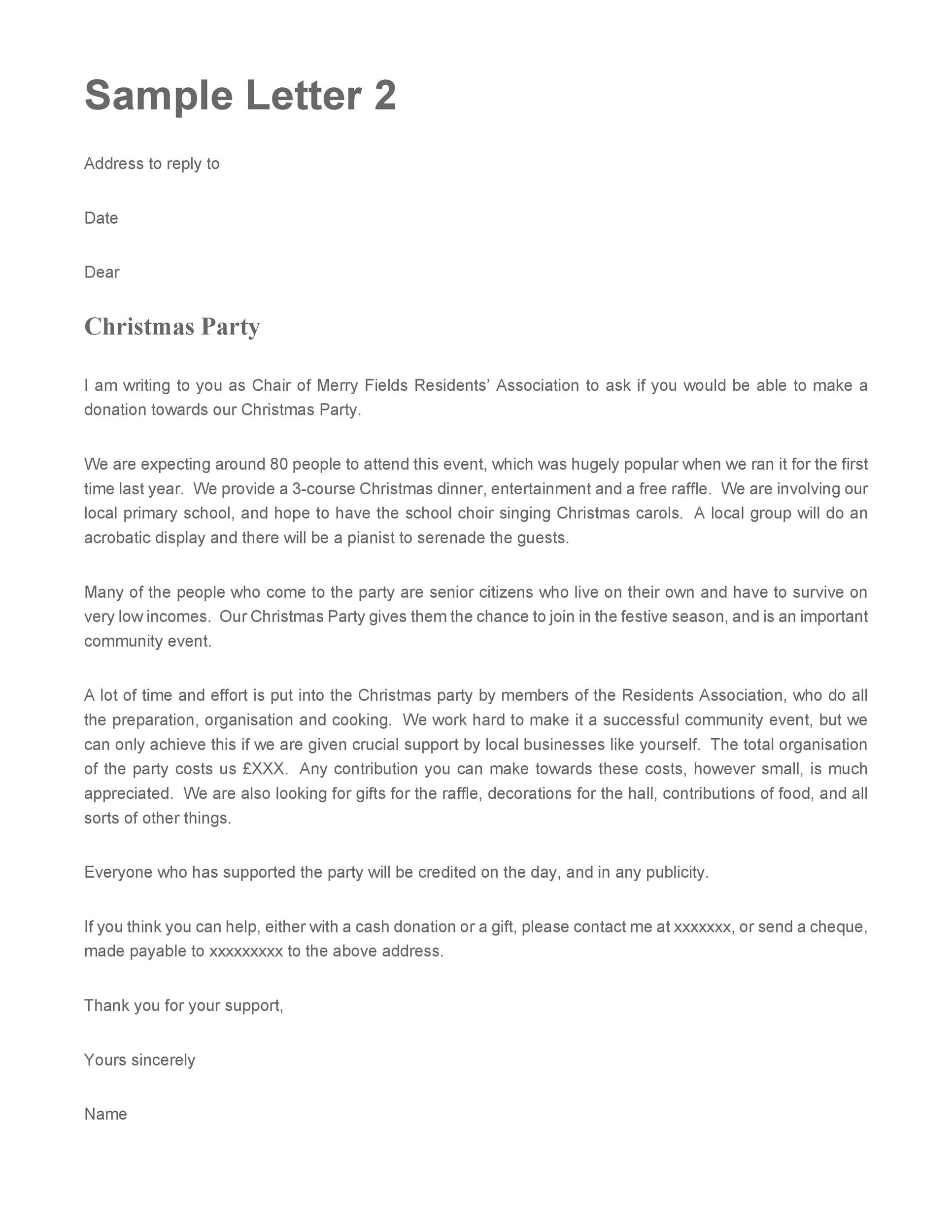 letter asking for christmas gifts 43 free donation request letters amp forms template lab 22588
