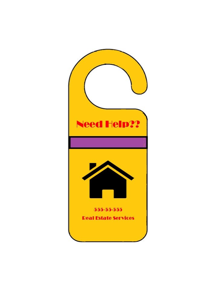 Free Door Hanger Template 01