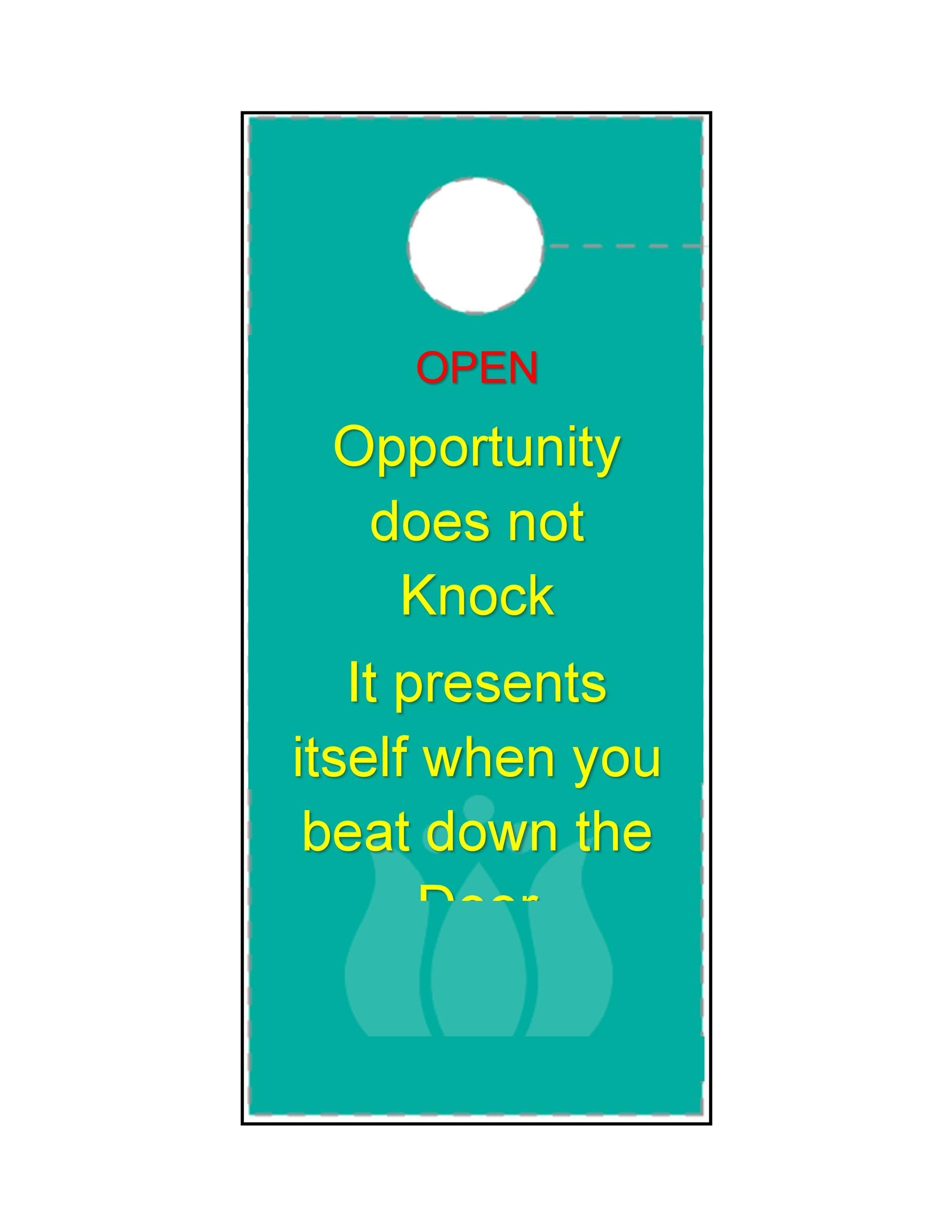 Free Door Hanger Template 02