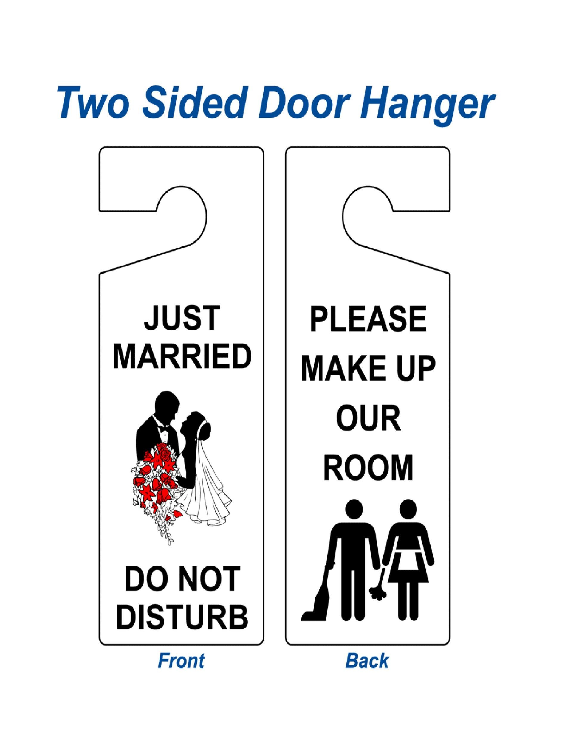 image regarding Free Printable Door Hanger Template identified as 43 Totally free Doorway Hanger Templates (Phrase, PDF) ᐅ Template Lab