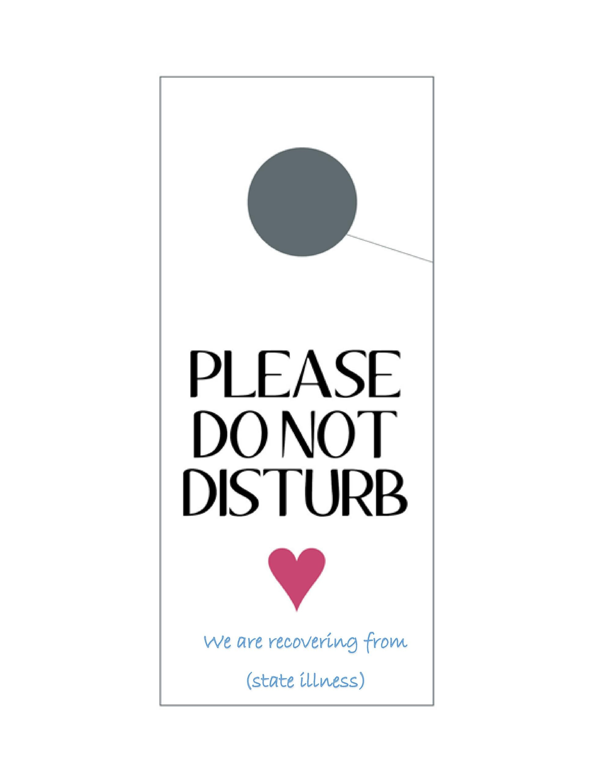 Free Door Hanger Template 14