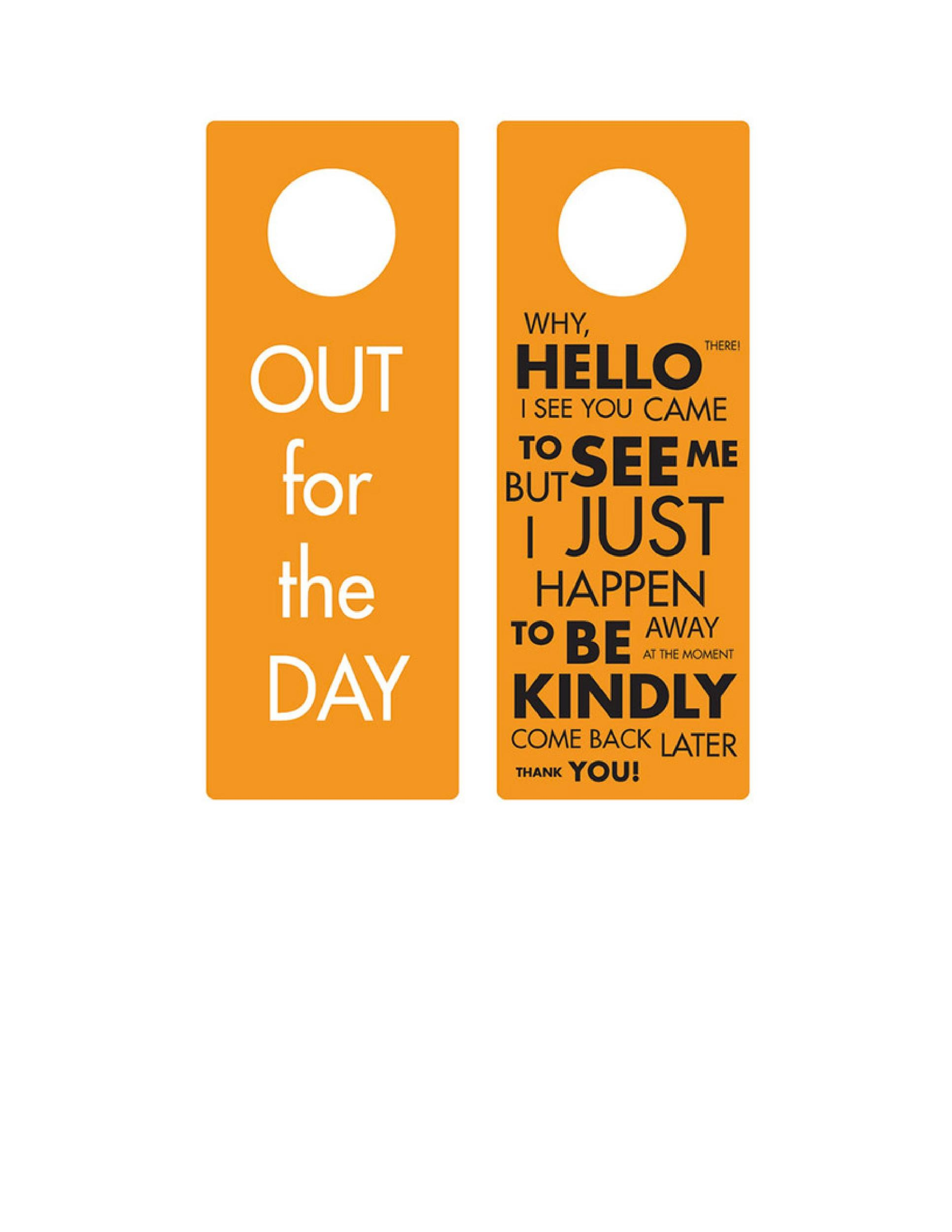 Free Door Hanger Template 18