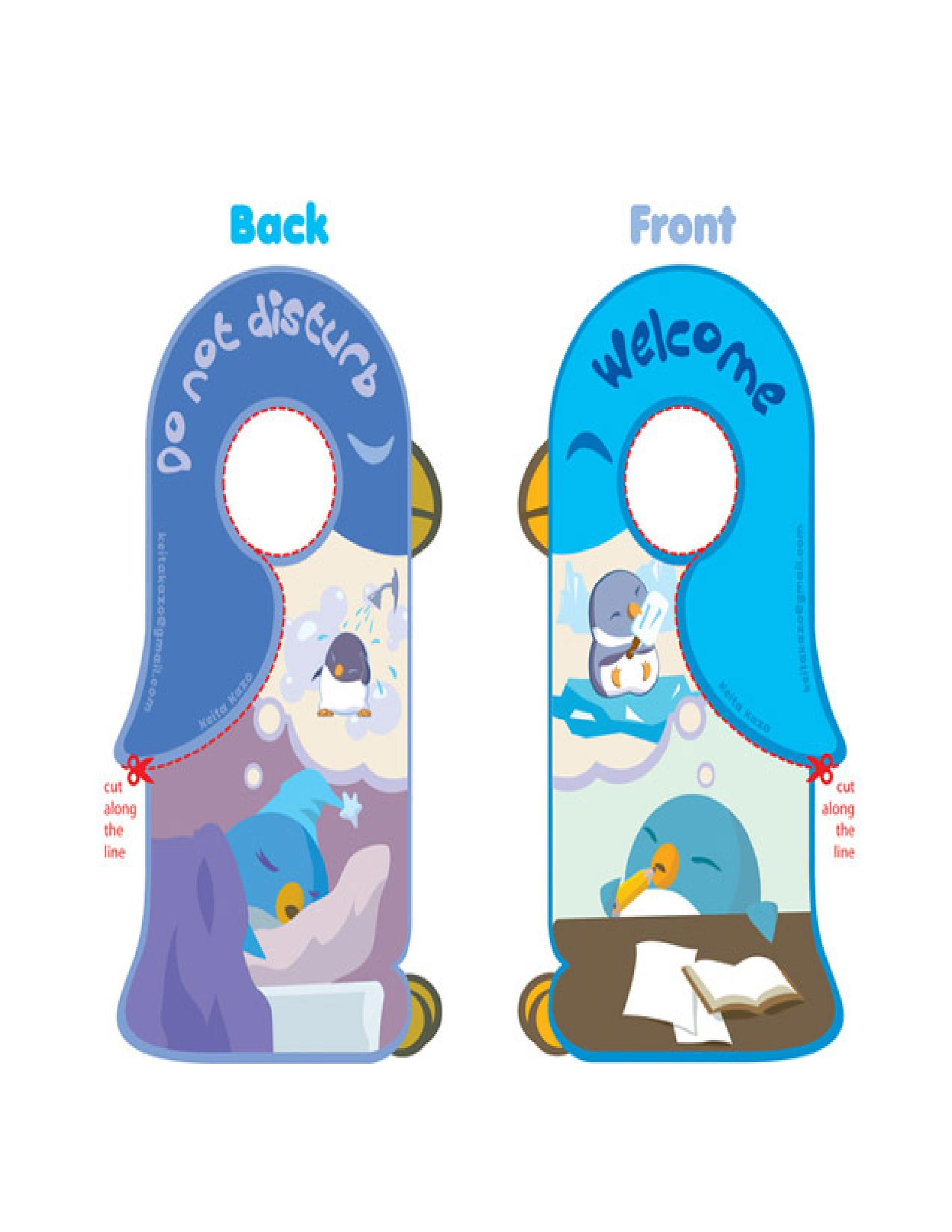 Free Door Hanger Template 22
