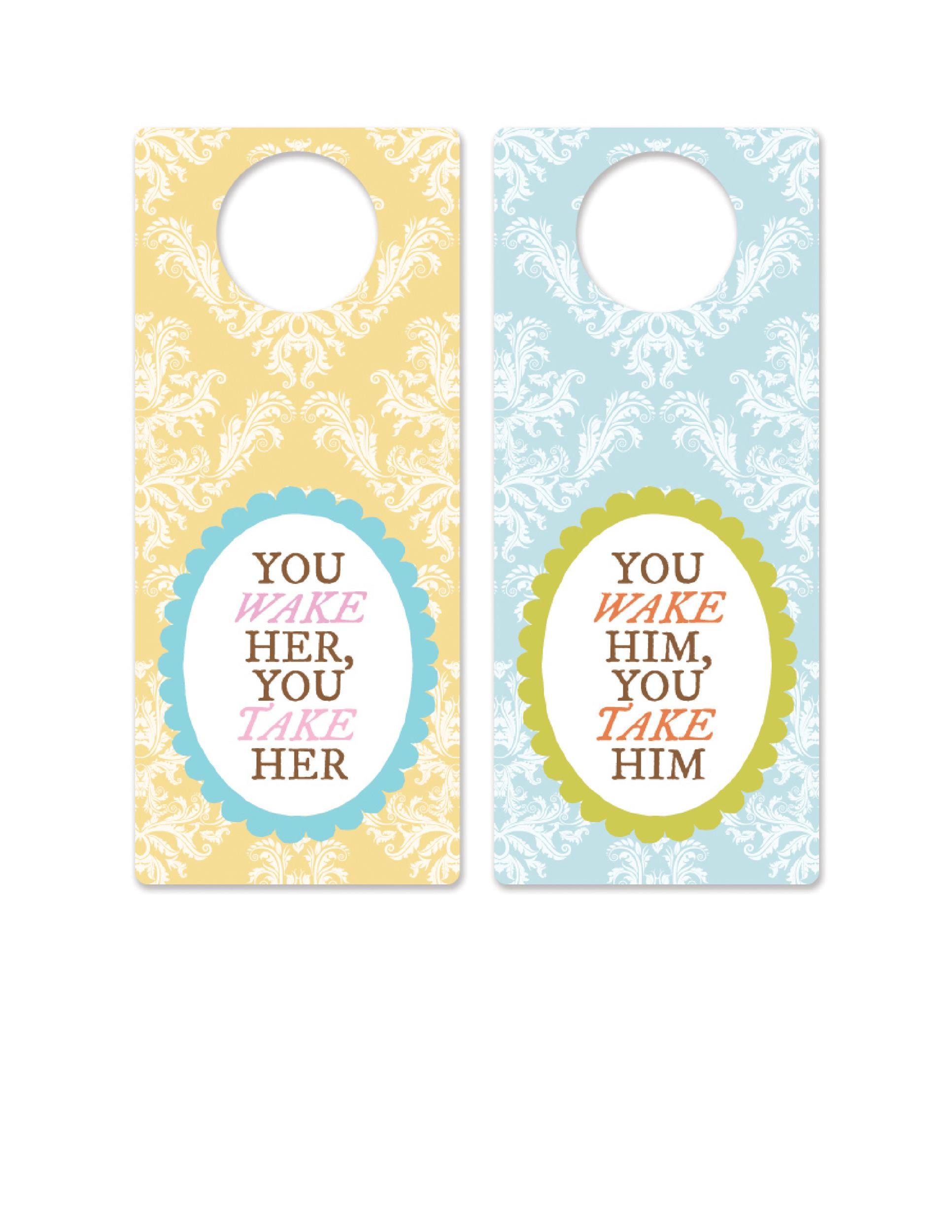 Free Door Hanger Template 24
