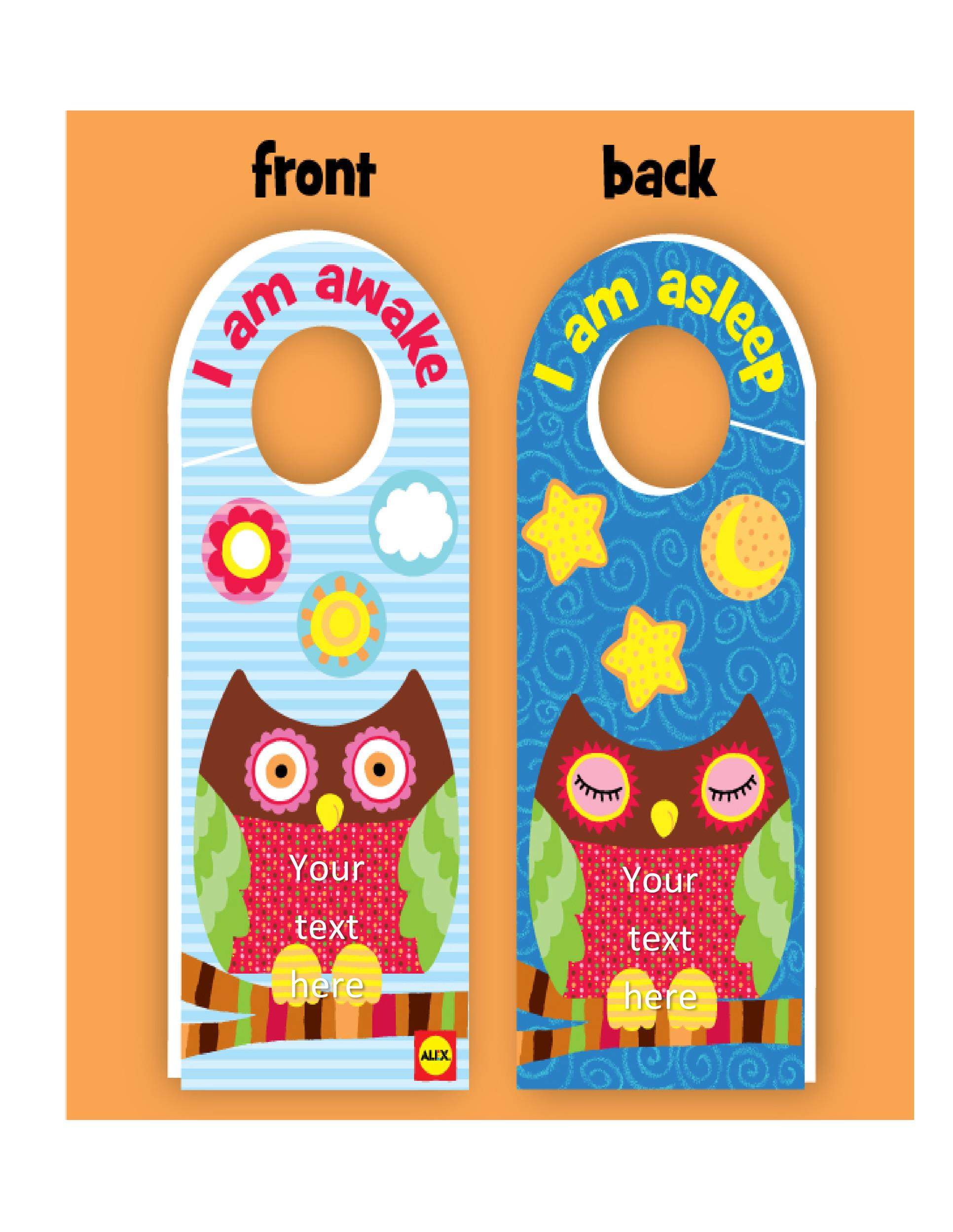 Free Door Hanger Template 25