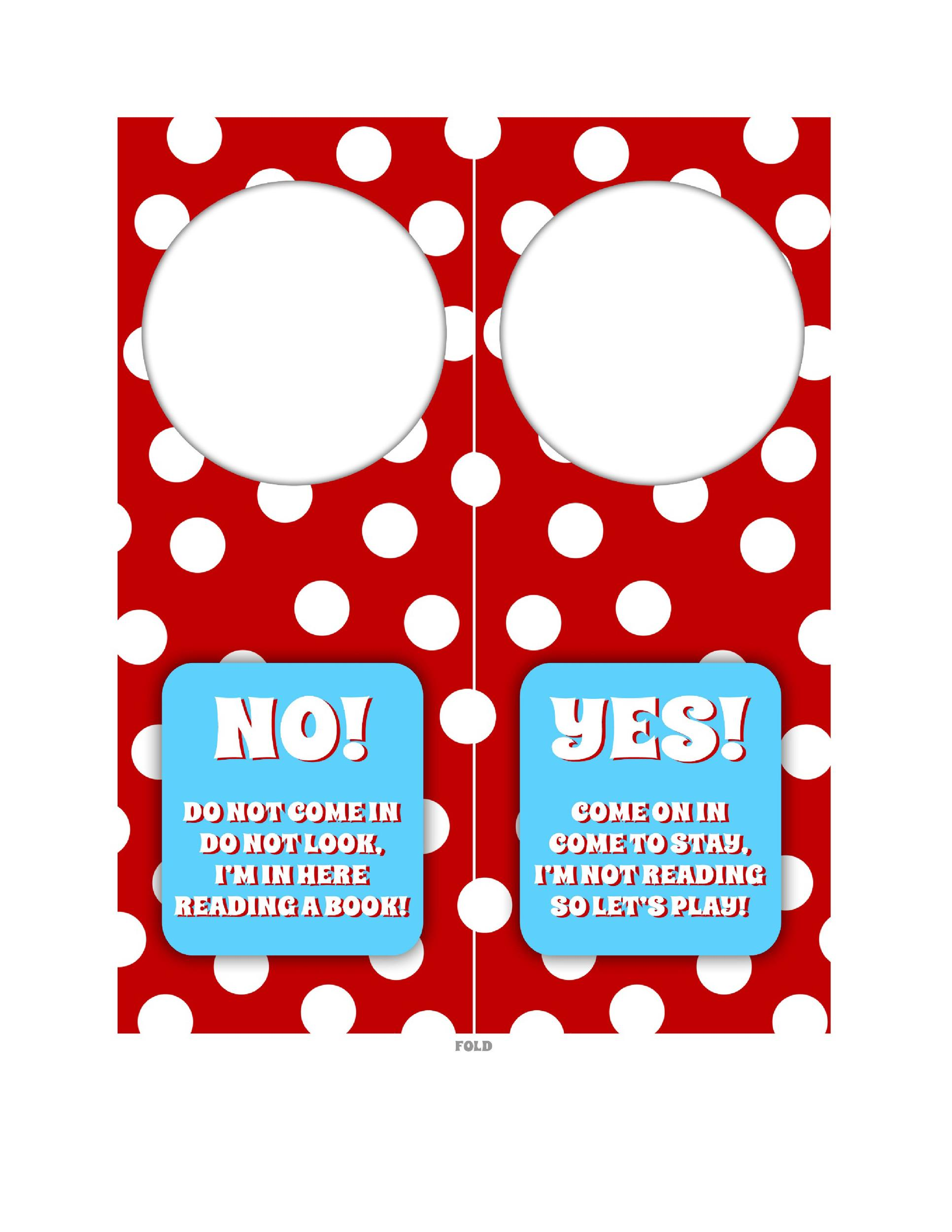 Free Door Hanger Template 27