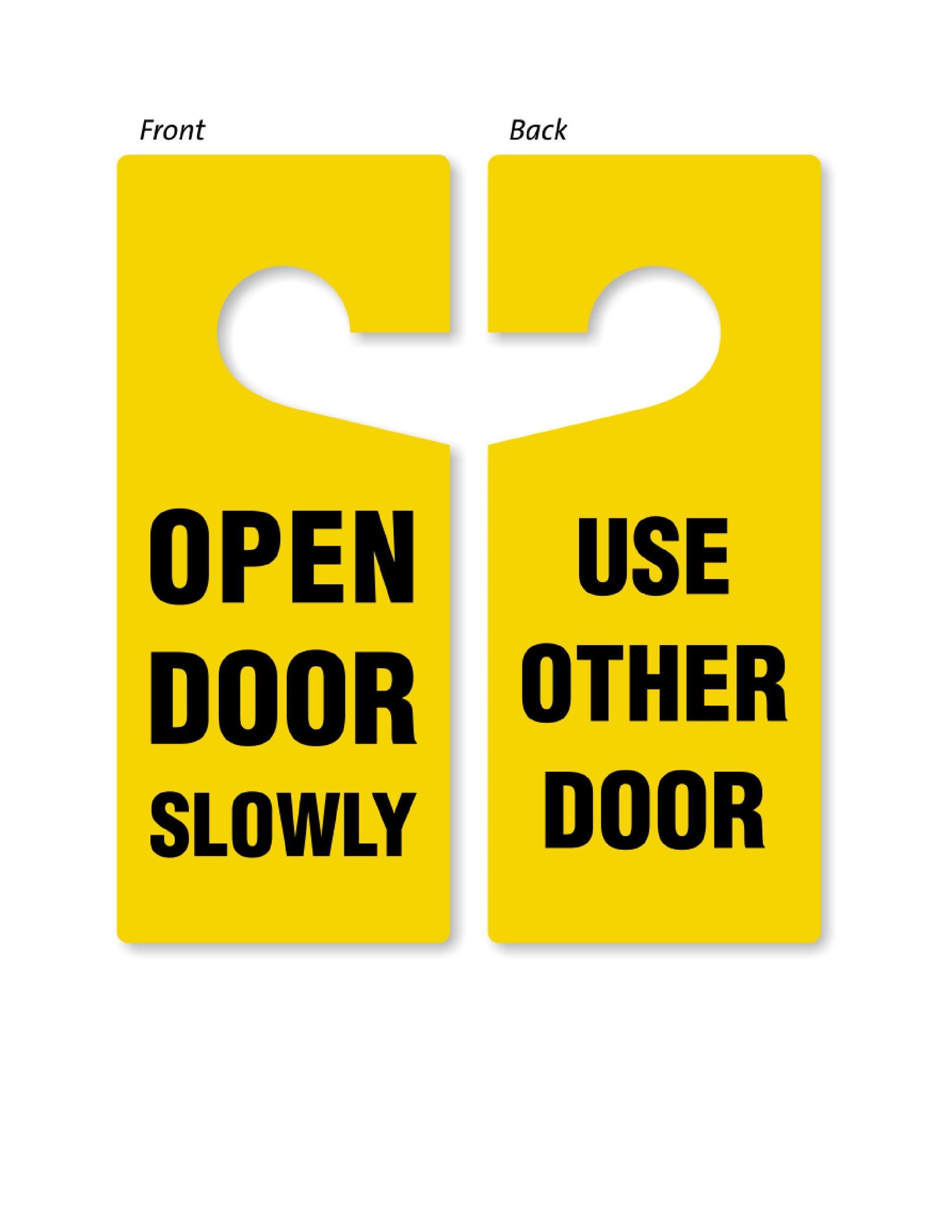 Free Door Hanger Template 28