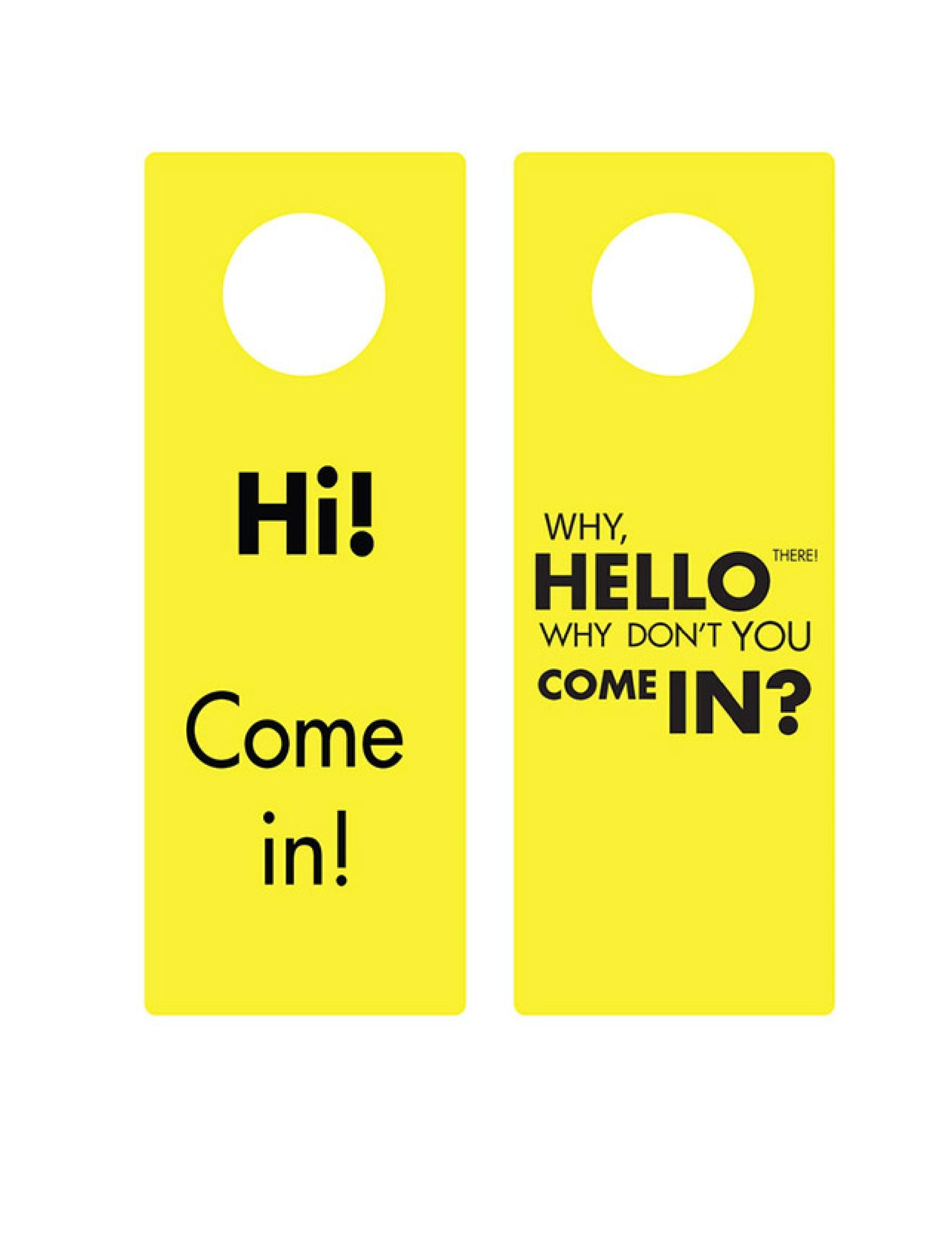 Free Door Hanger Template 30