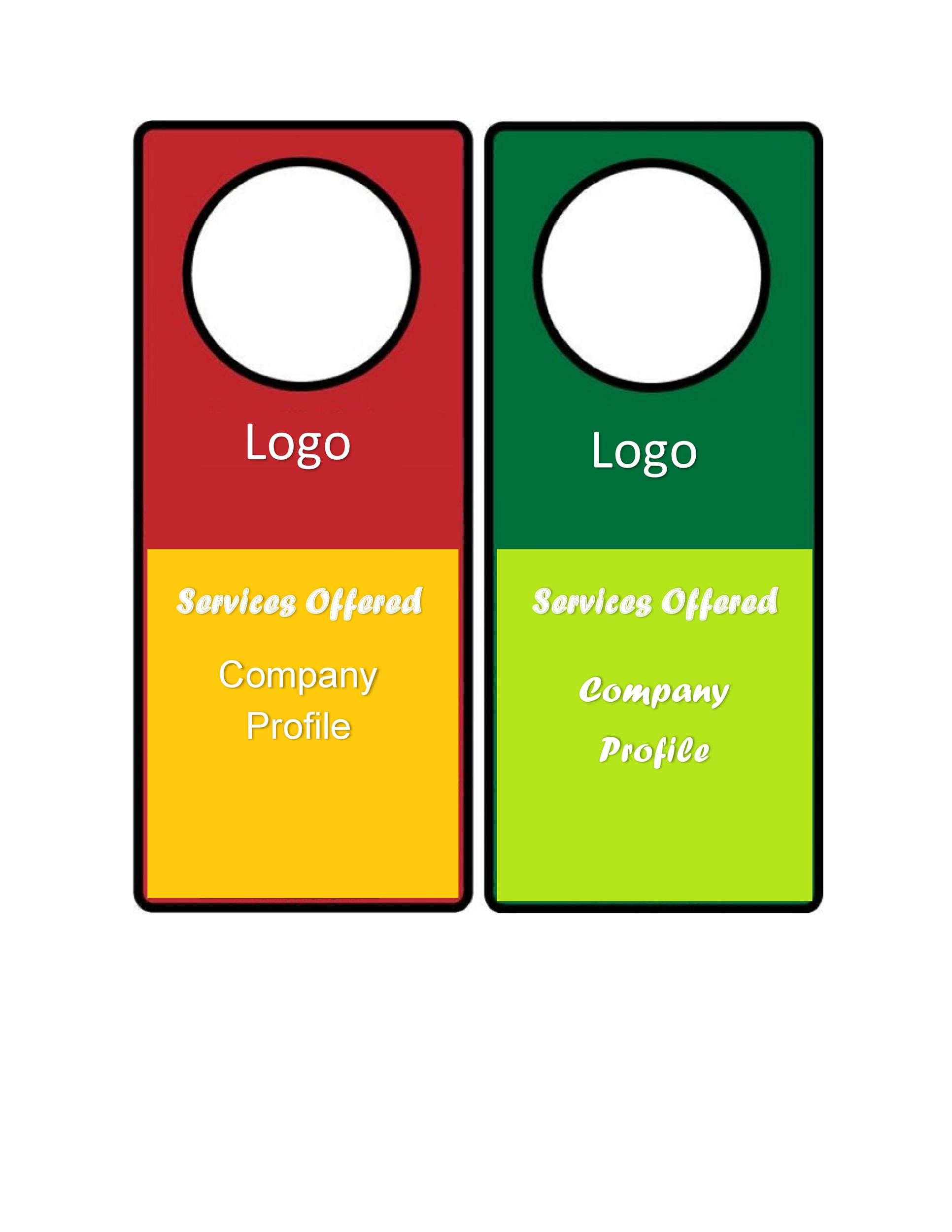 Free Door Hanger Templates Word Pdf  Template Lab