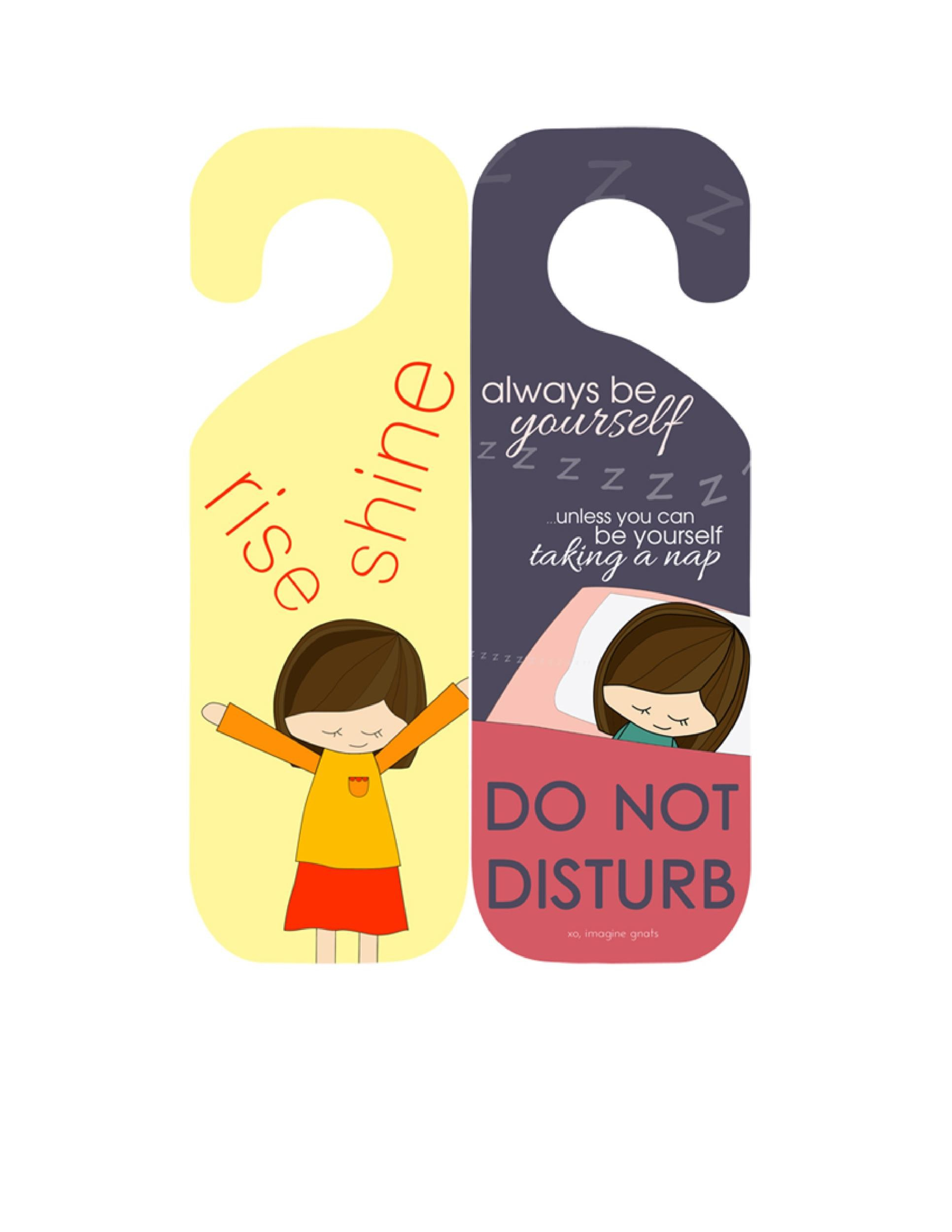 Free Door Hanger Template 34
