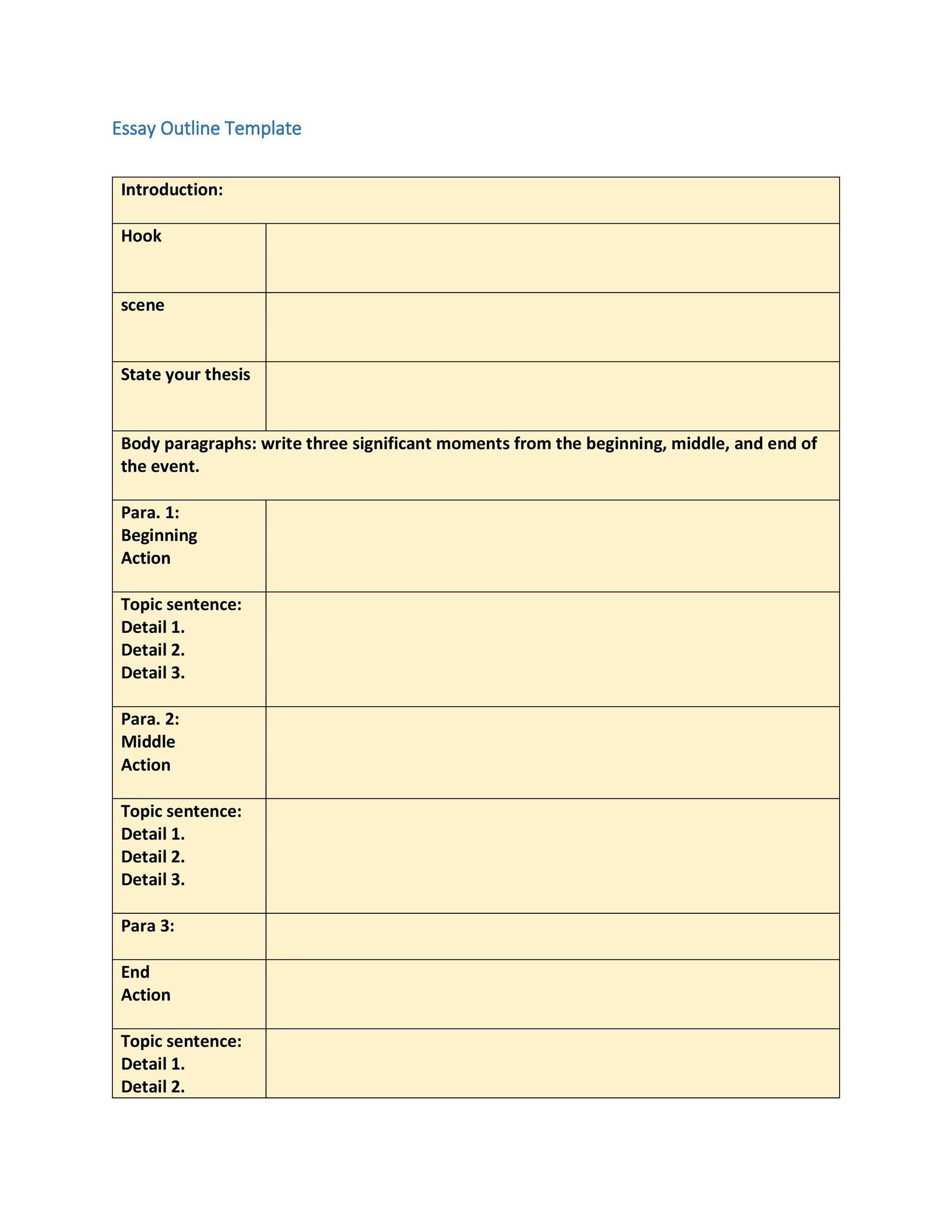 Free Essay Outline Template 07